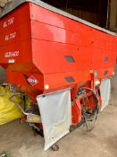 2008 Kuhn Fertiliser spreader, capacity 3T, can do variable rate, hydraulic driven.