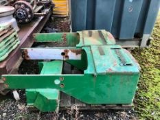 Front weight frame box for JD 20/30 series. Left hand frame not the right one.