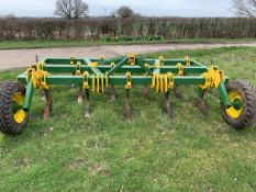 Chisel plough 12ft wide, Homemade. Stored near West Grinstead, Sussex.