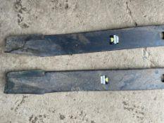McConnel bat wing topper blades. Stored near Bungay, Suffolk.