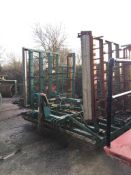 Cousins 6m levelling harrow. Stored near West Grinstead, Sussex.