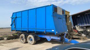 16 tonne bulk trailer,plain blue with no writing, air brakes, good condition.