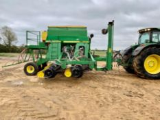 JD 750a 6m 6 disc Seed Drill - 2000. Stored Chatteris, Cambridgeshire.