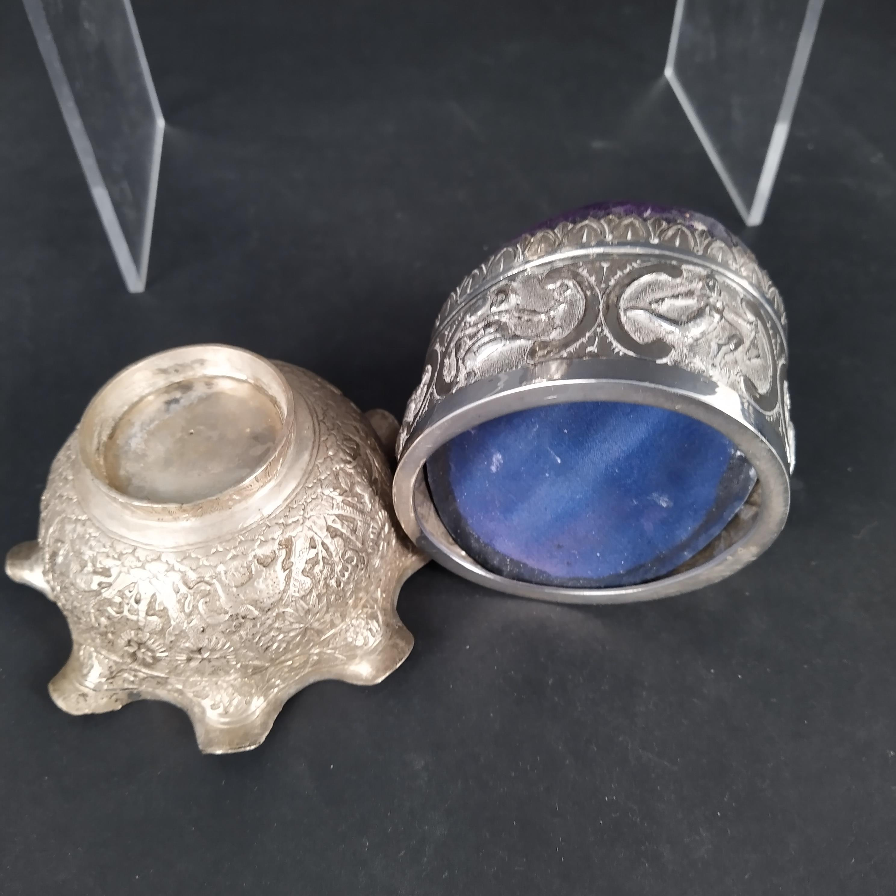 A mixed lot of Indian white metal items including jugs, - Image 2 of 3