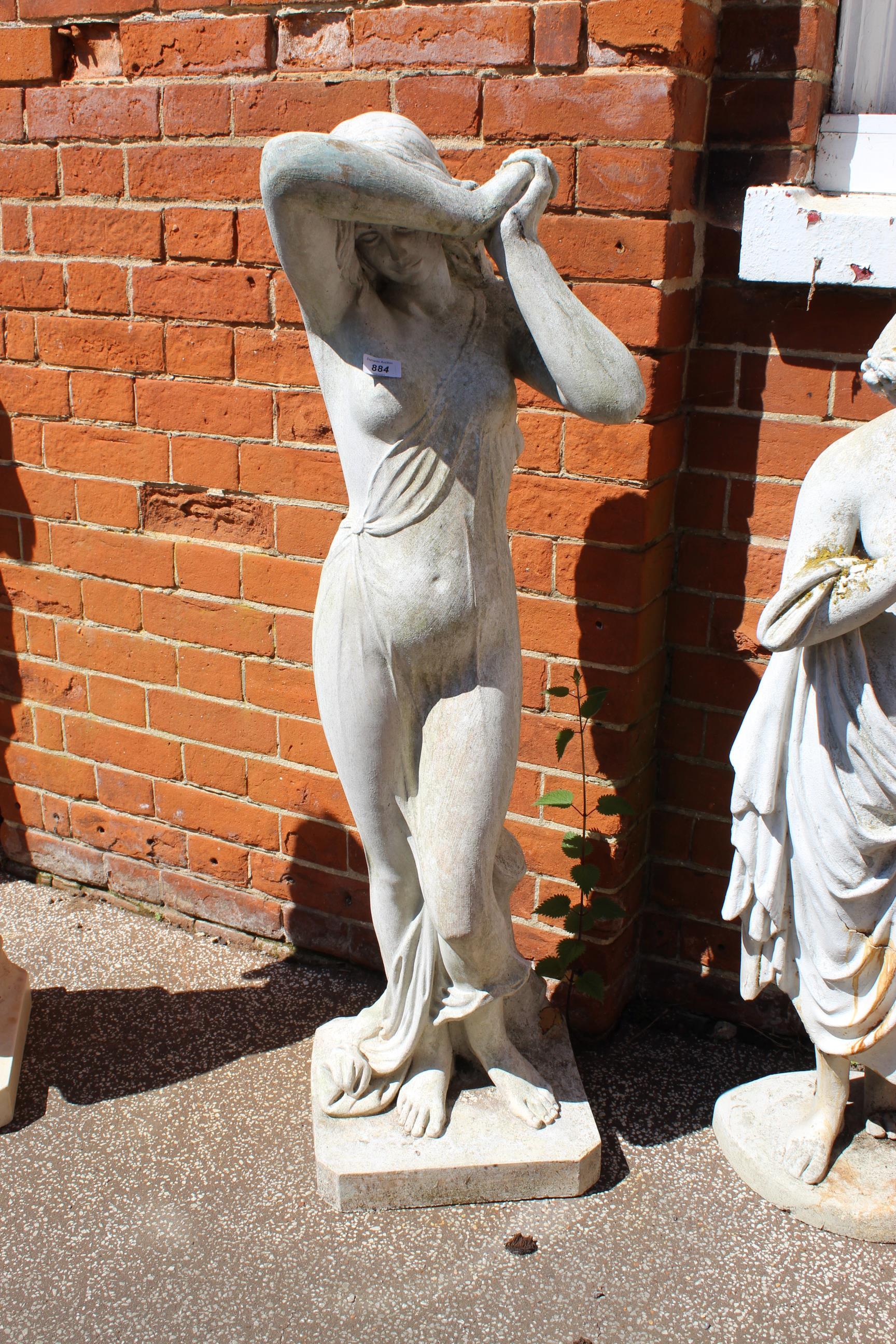 A fibre glass replica statue of marble statue,