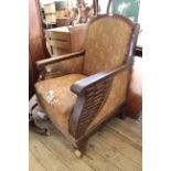 A late 19th Century (possibly German) adjustable armchair (as found)