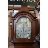 A late 18th Century oak cased long case clock,