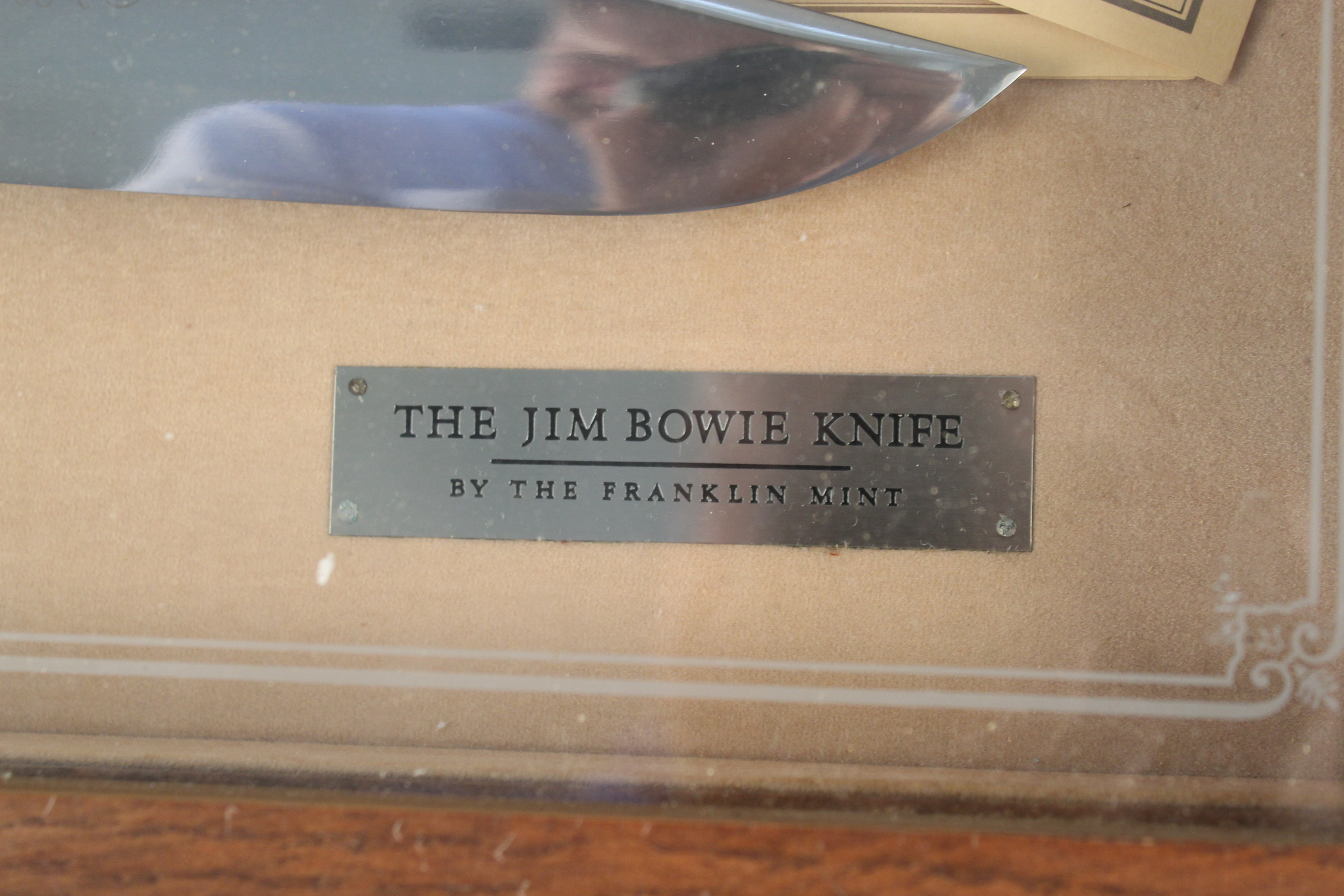 A cased collectors 'Jim Bowie knife' by Franklin Mint - Image 3 of 4