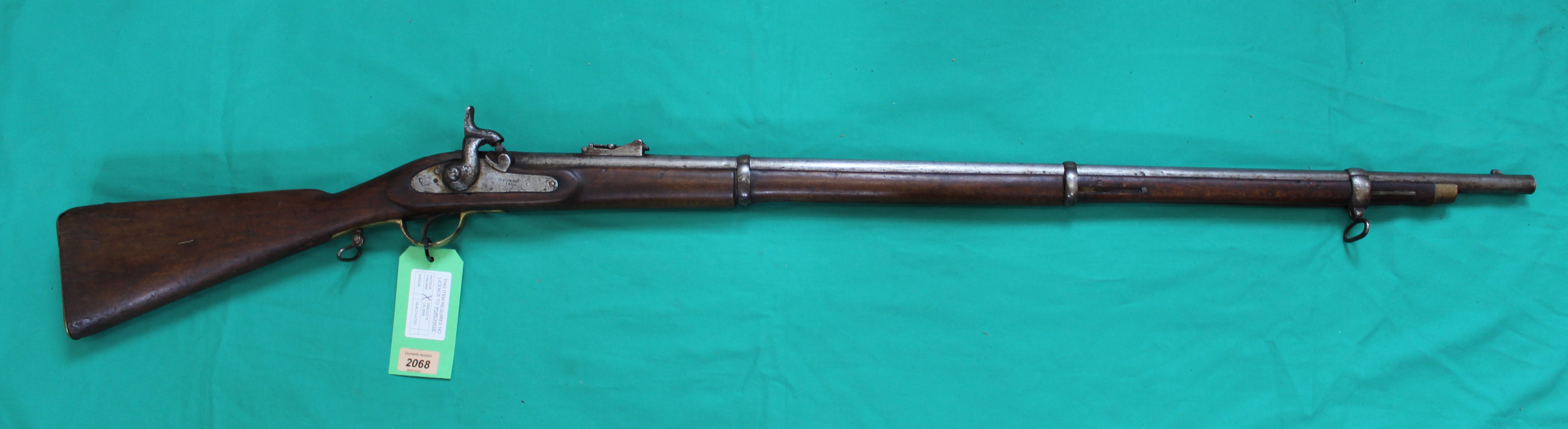A percussion three band 'Enfield style' smoothbore long arm,