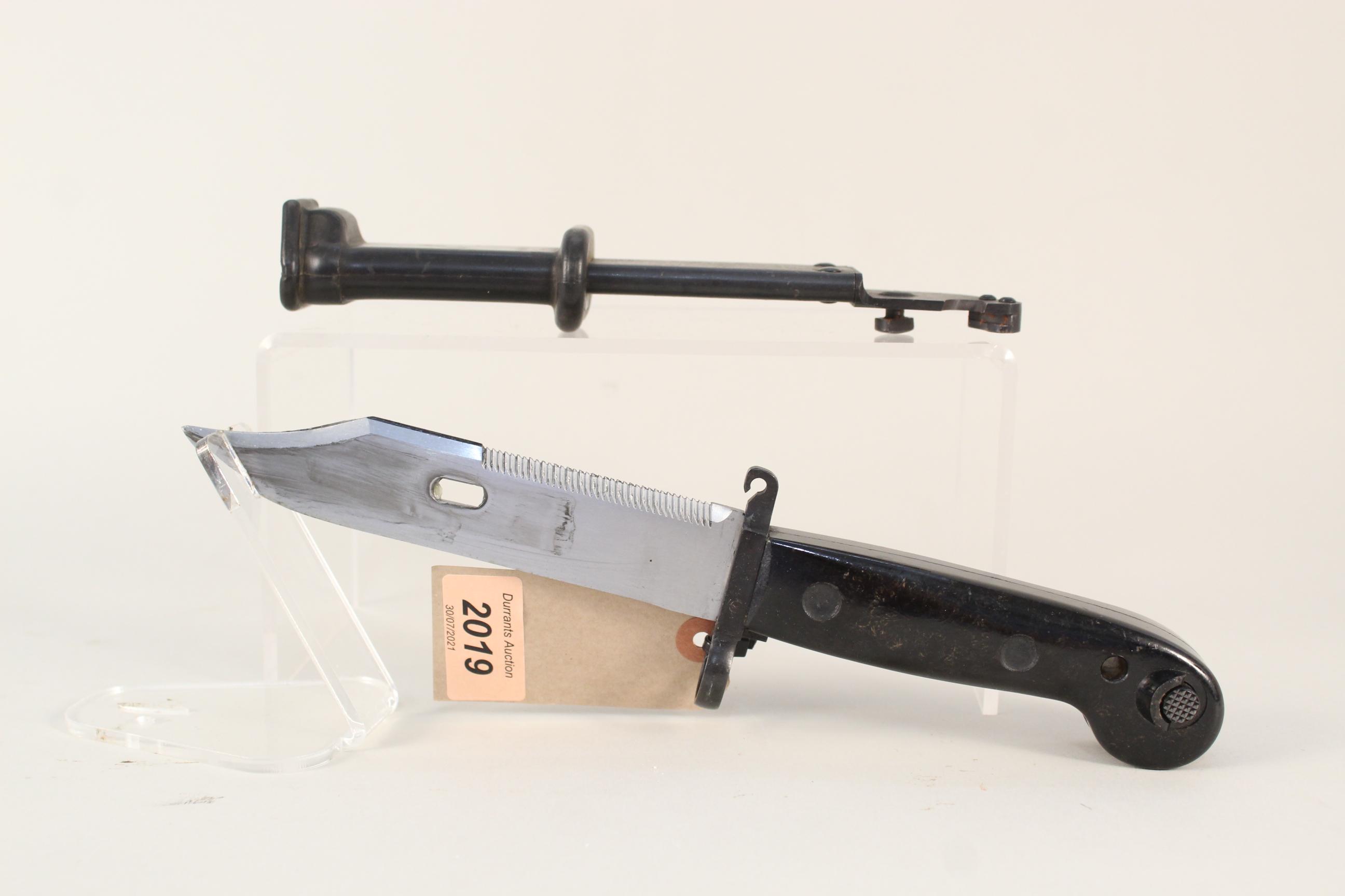 An East German knife bayonet for the model '59' AK,