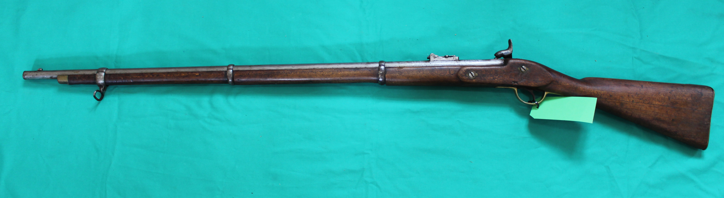 A percussion three band 'Enfield style' smoothbore long arm, - Image 3 of 3