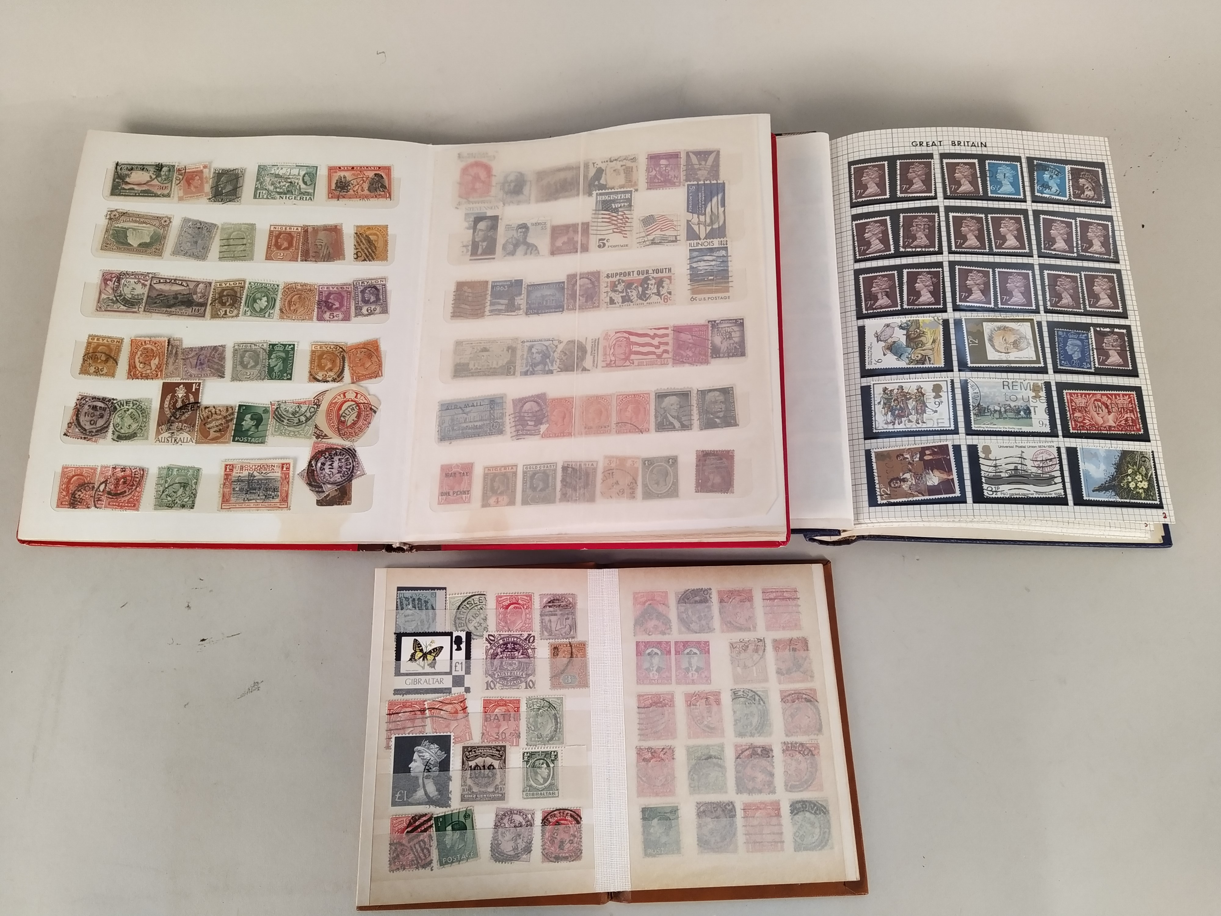 A part filled first day cover album plus three various stamp albums, - Image 2 of 3