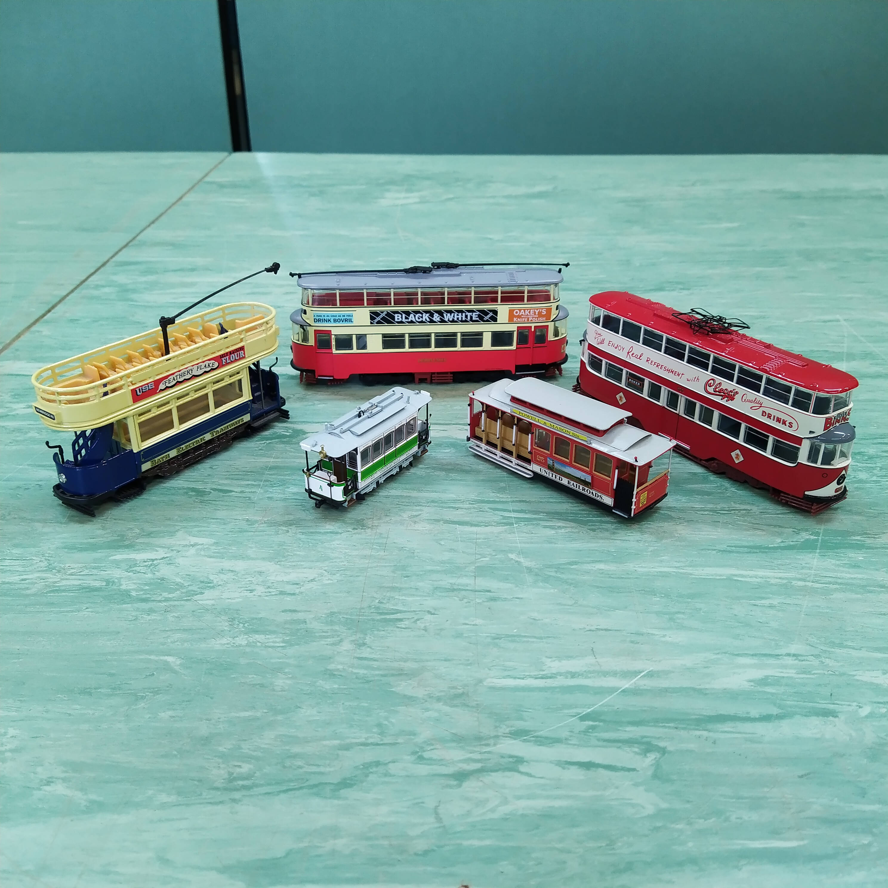 Various Corgi boxed and loose 1:50 scale trams