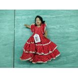 A vintage Topsy Turvy rag doll in the Spanish style