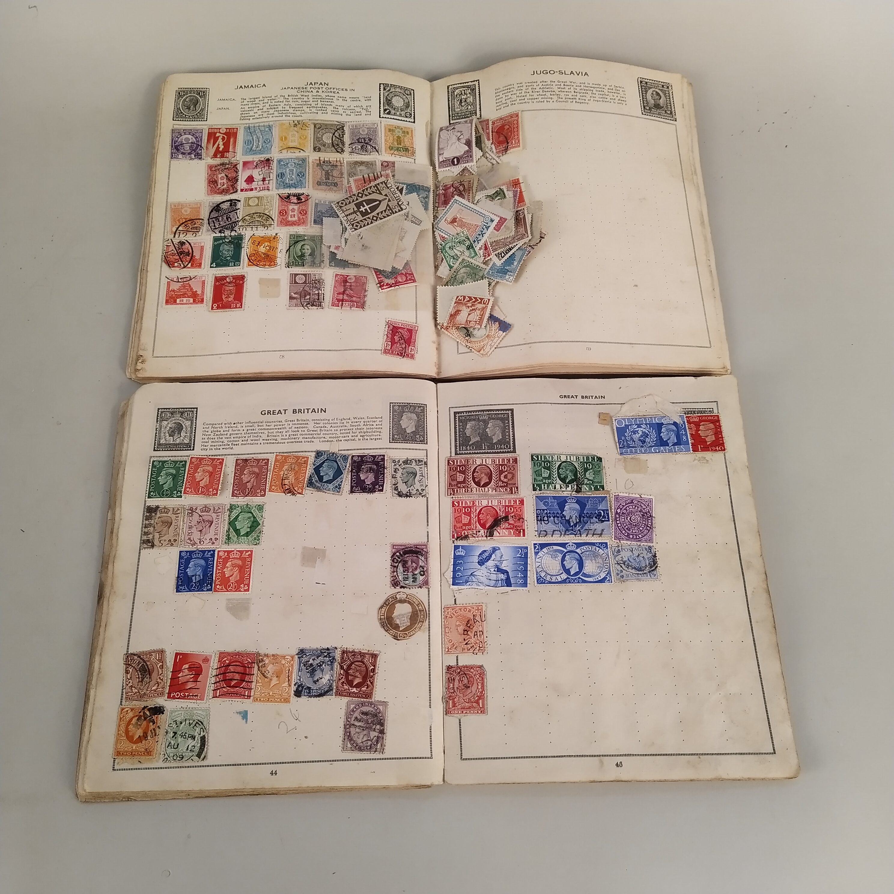 Various vintage stamp albums, part filled British and world stamps, - Image 2 of 3
