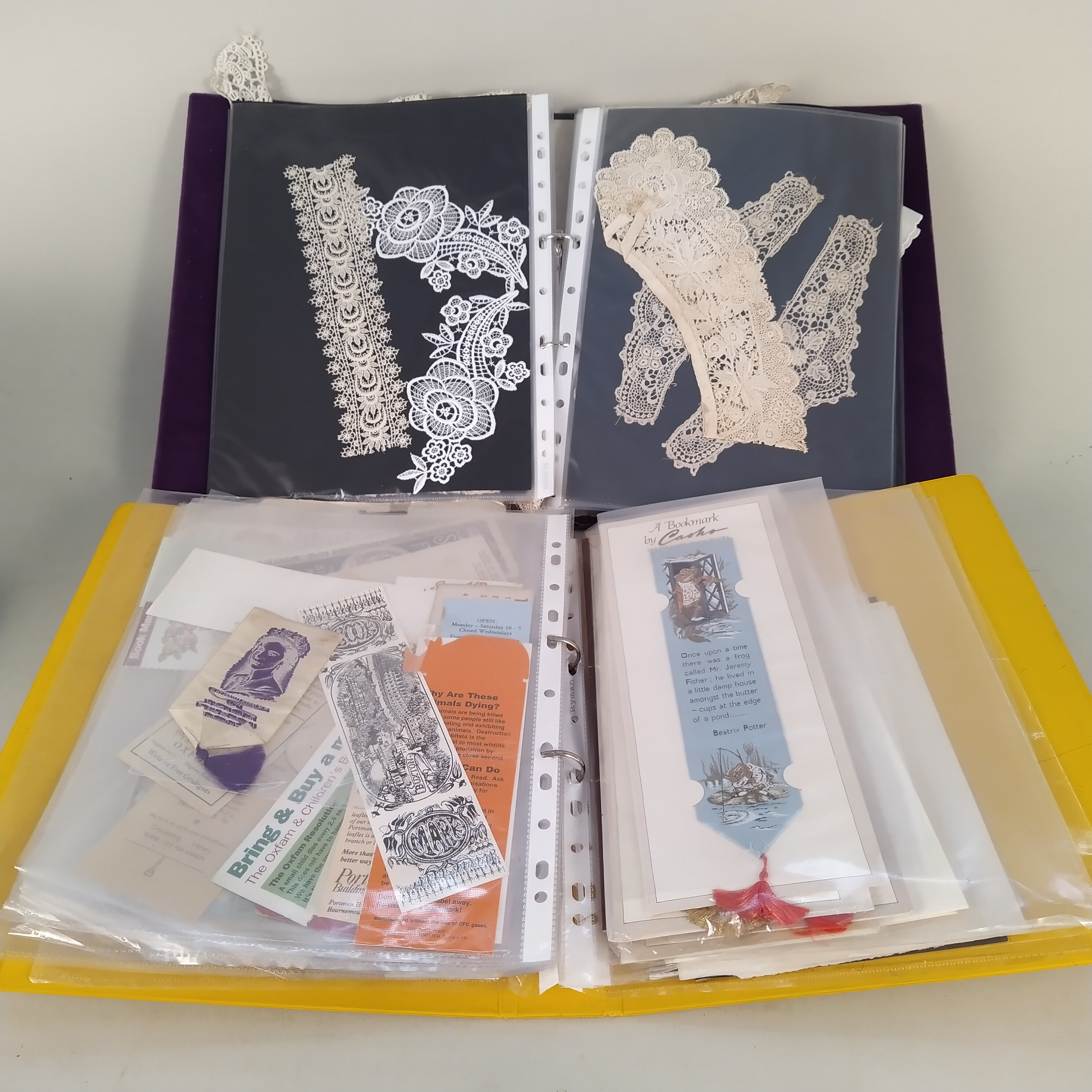 An extensive collection of mainly vintage bookmarks plus an album of vintage lace pieces, - Image 3 of 3