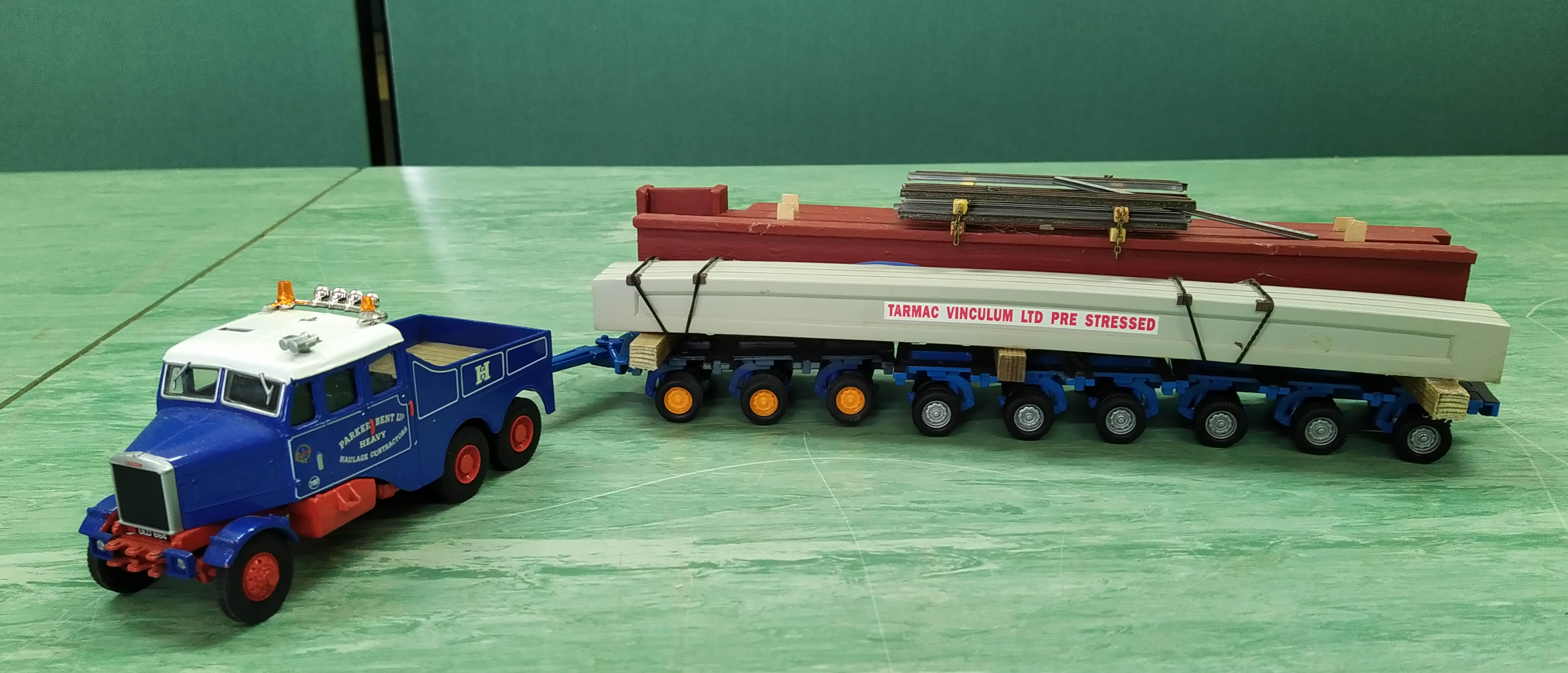 Two Corgi 1:50 scale heavy haulage vehicles with accessories - Image 2 of 3