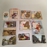 A large selection of vintage circa 1940's to 60's childrens birthday cards,