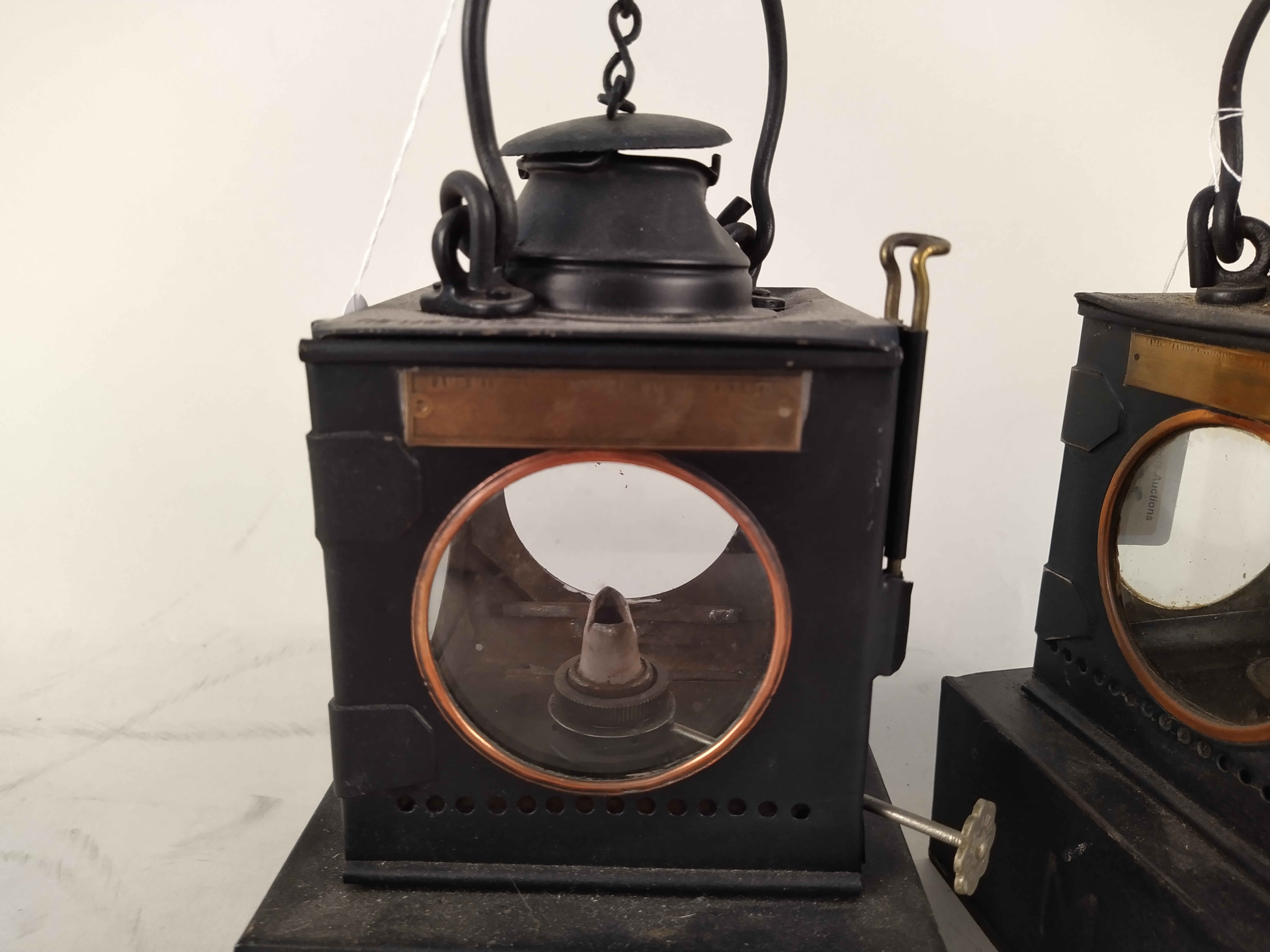 Two Welch patent early 20th Century railway lamps, - Image 2 of 3