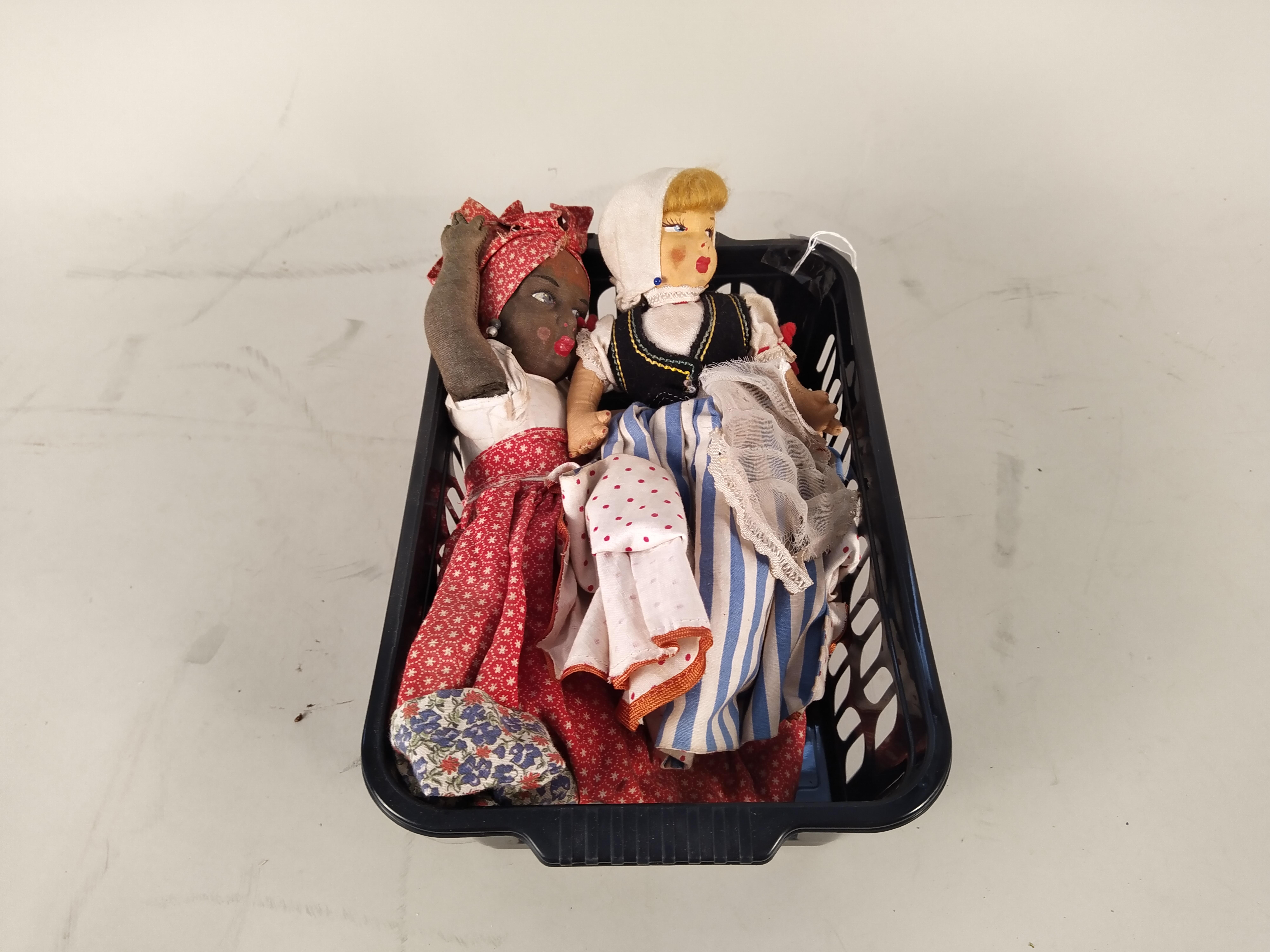Two vintage 'Topsy Turvy' cloth dolls,