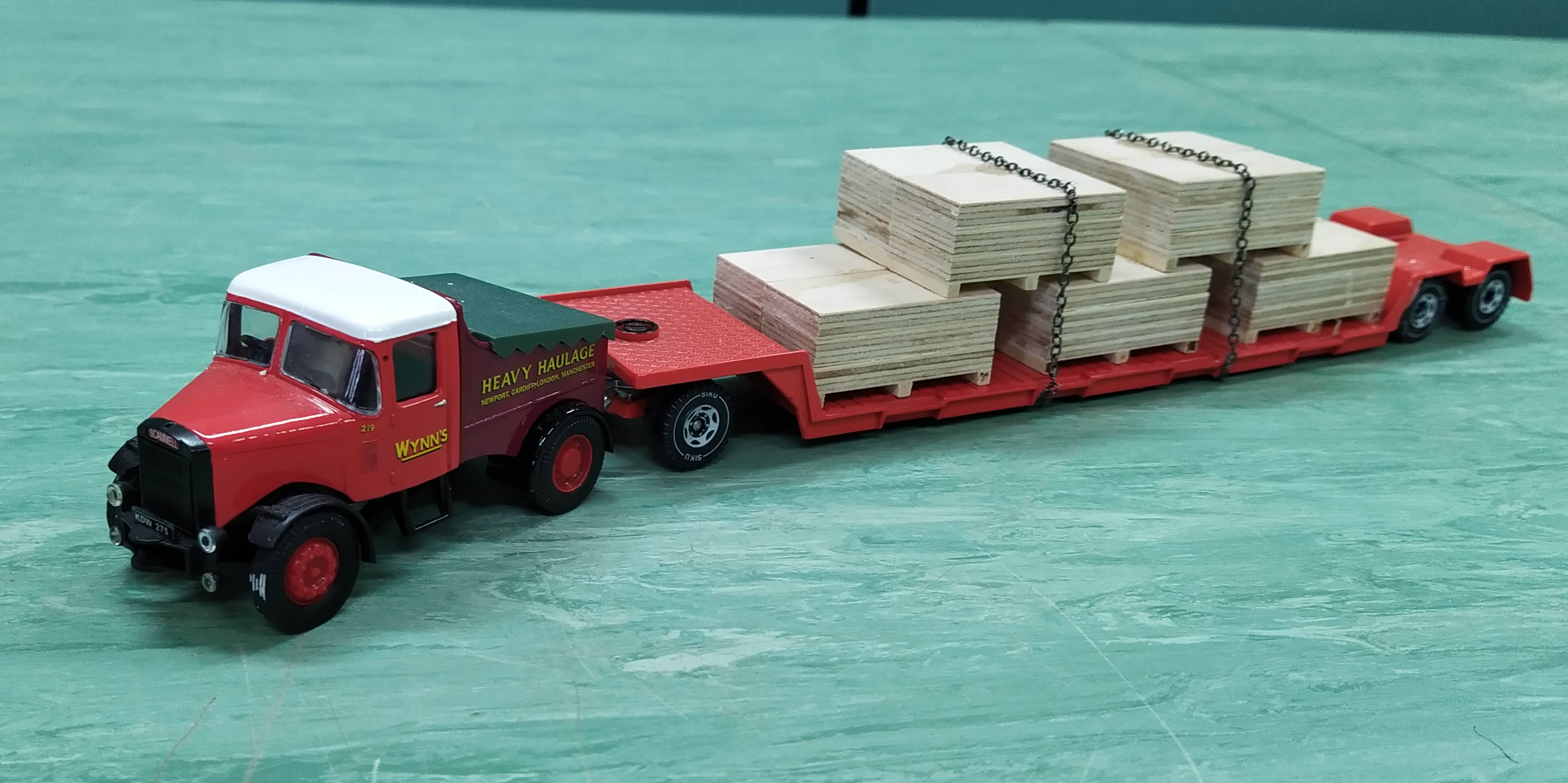 Two Corgi 1:50 scale heavy haulage vehicles with accessories