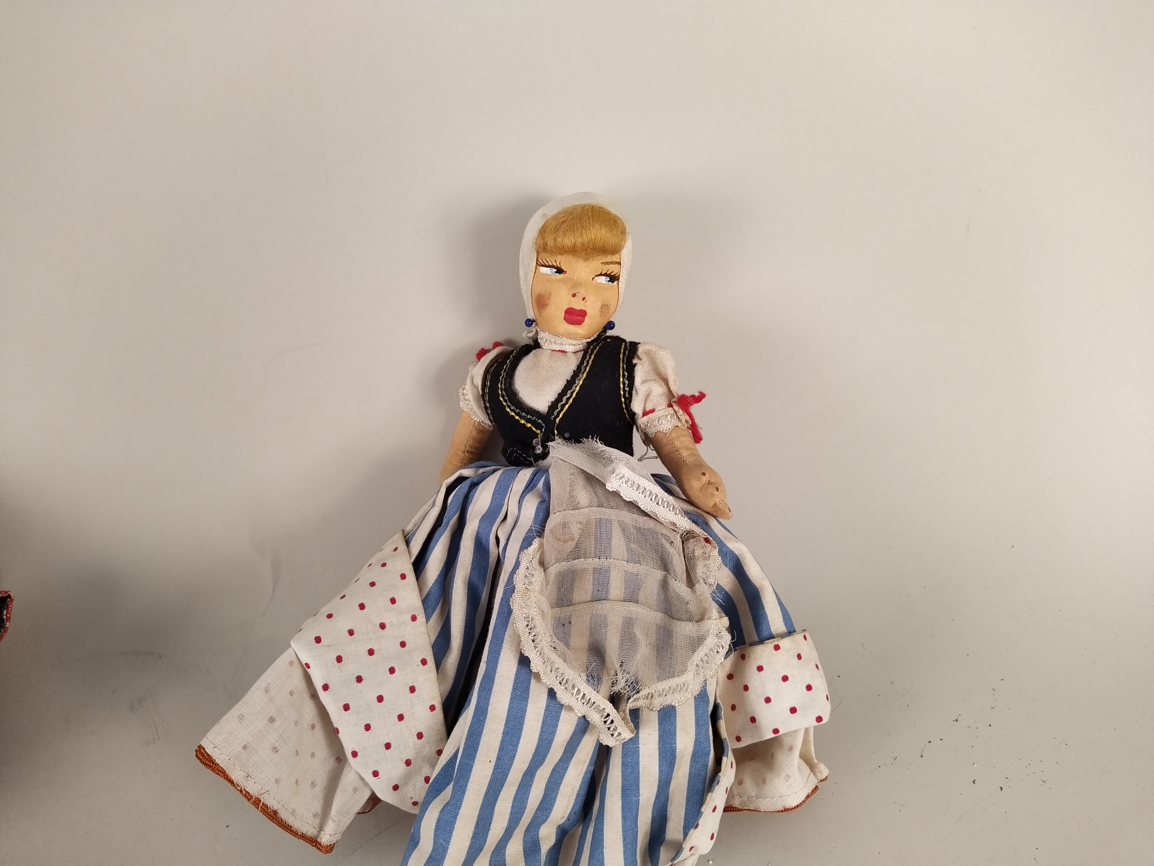 Two vintage 'Topsy Turvy' cloth dolls, - Image 3 of 3