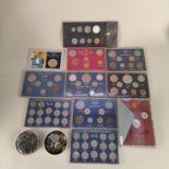 Mixed world coins, sets,