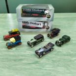 Two boxed Oxford 1:76 scale Eddie Stobart vehicles plus a selection of Rio classics and a Matchbox