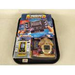 Three vintage LCD hand held games,