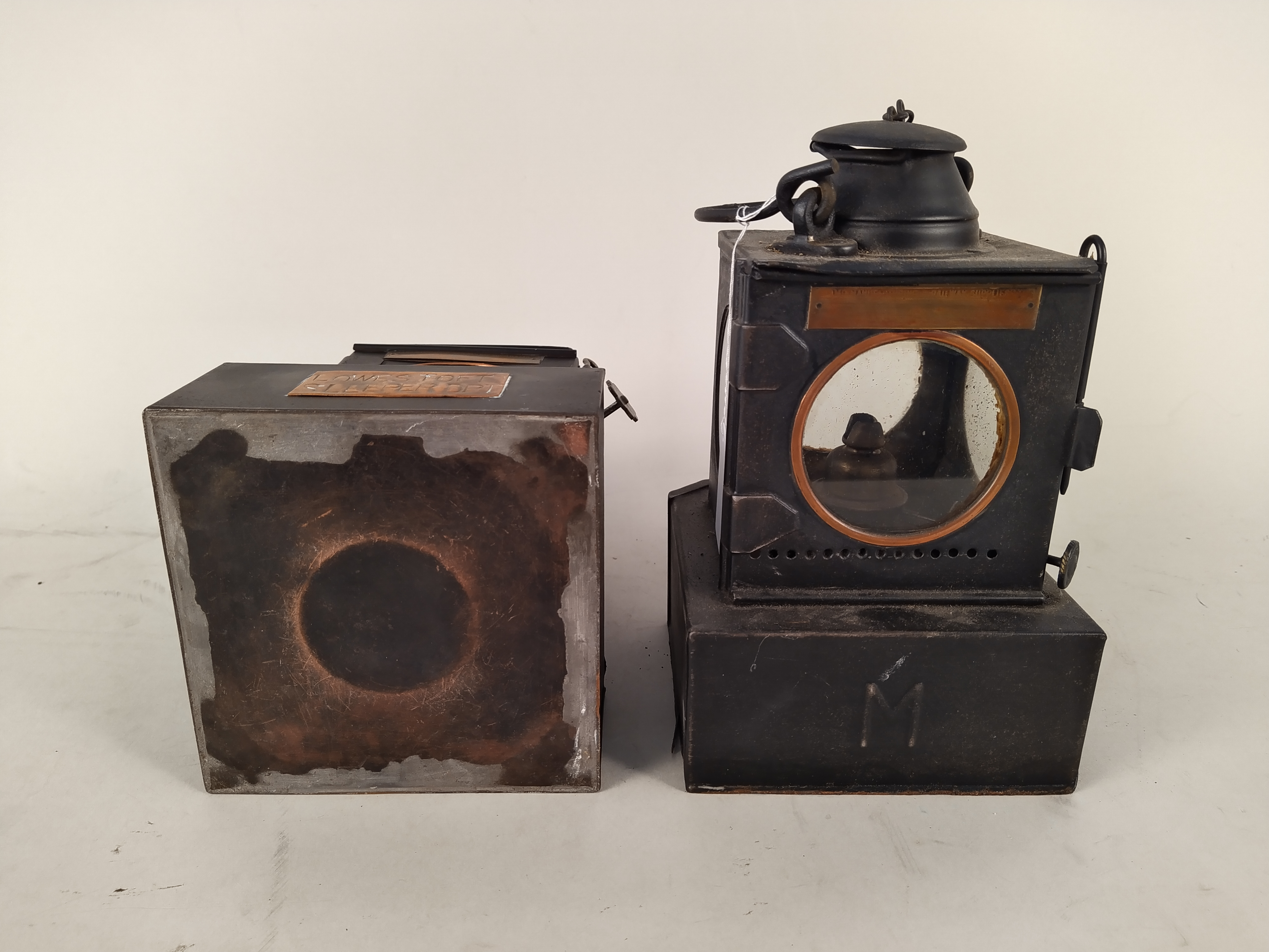 Two Welch patent early 20th Century railway lamps, - Image 3 of 3