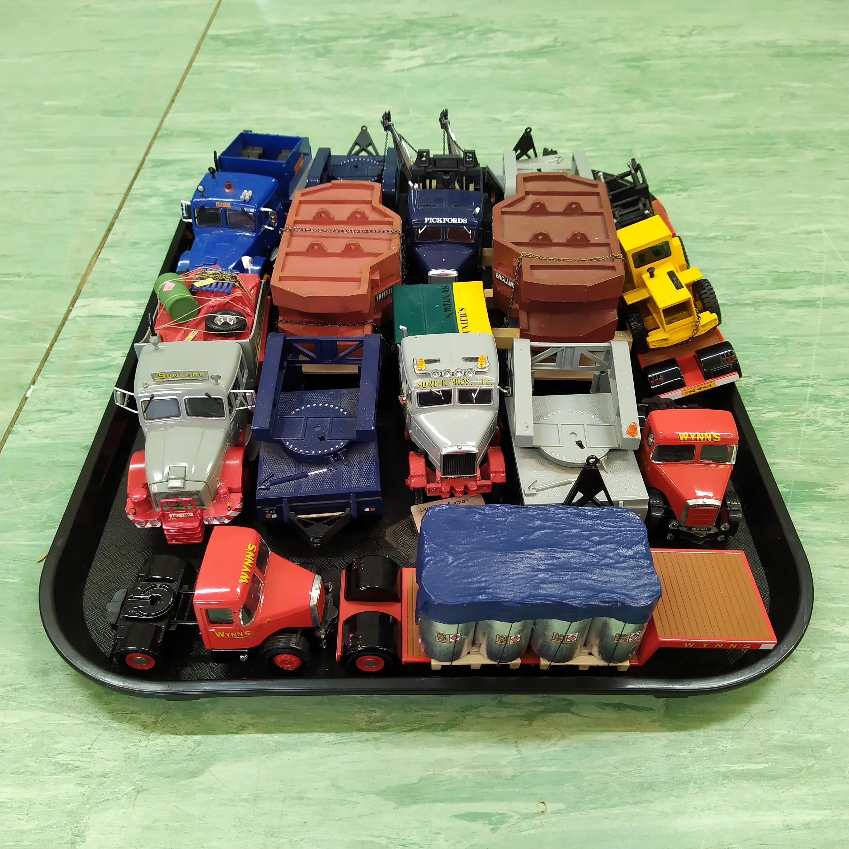 Six Corgi 1:50 scale heavy haulage low loaders