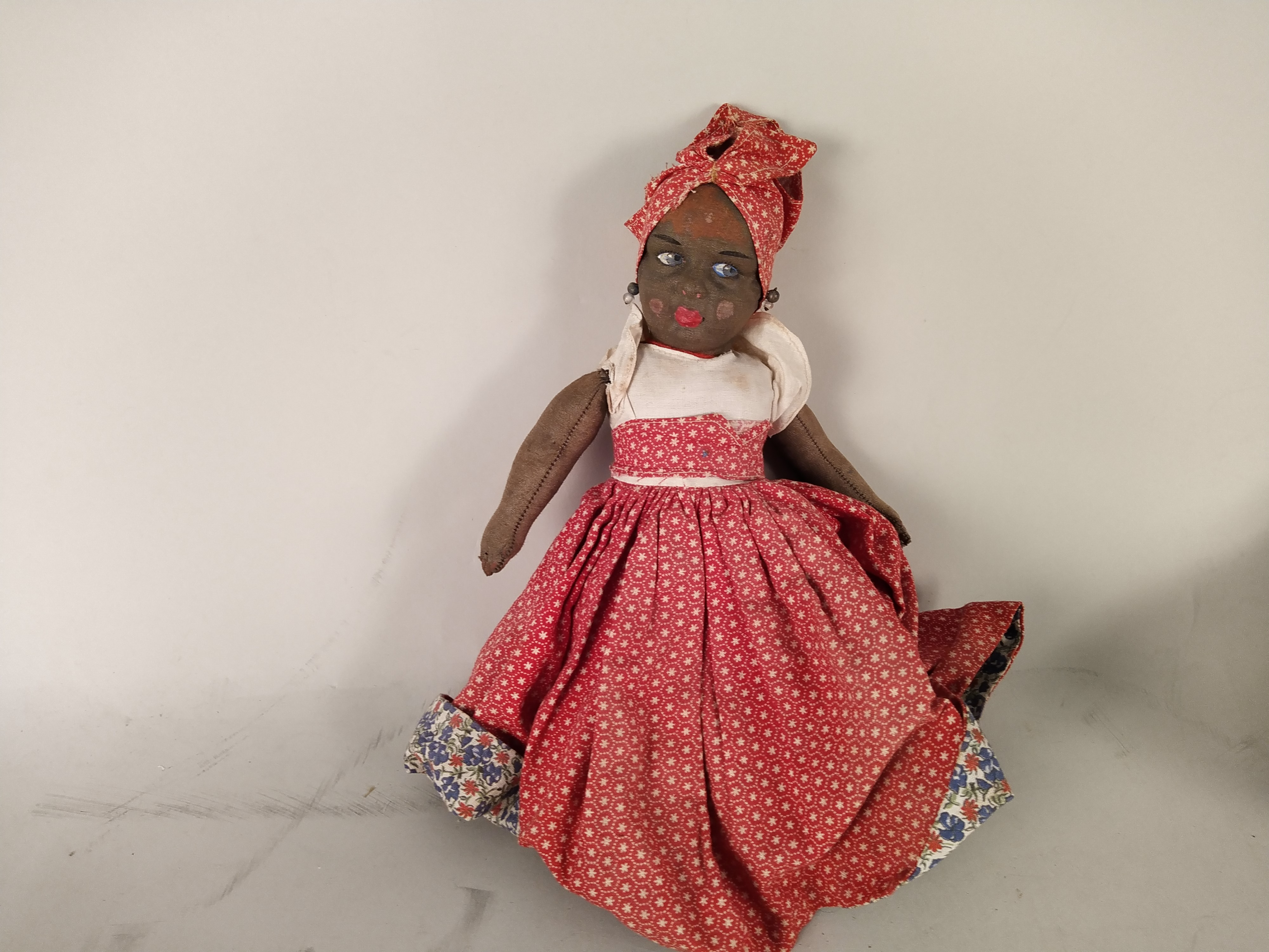 Two vintage 'Topsy Turvy' cloth dolls, - Image 2 of 3