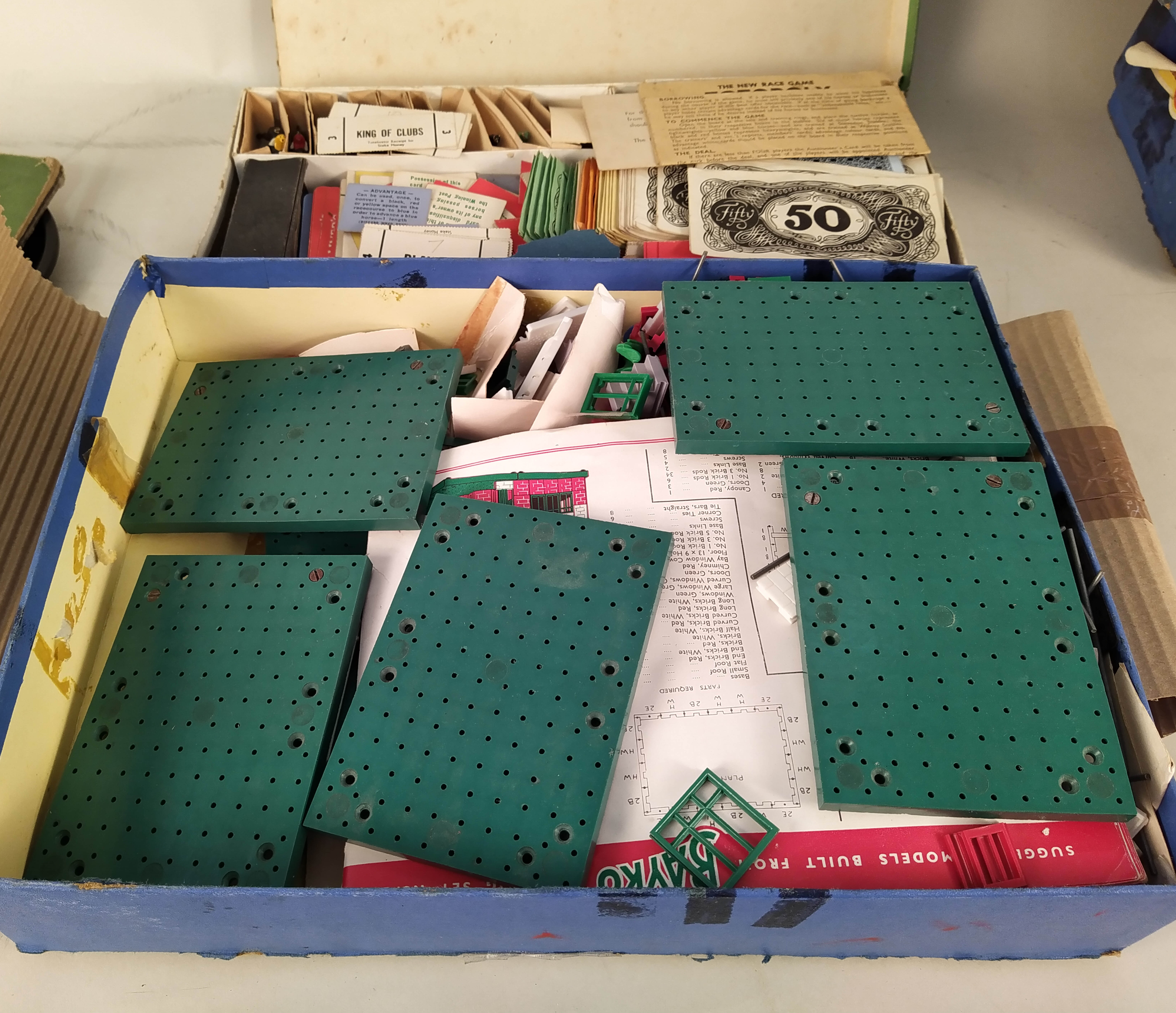 A vintage Totopoly game with board and two boxes of vintage 'Bayko' building sets plus a Mahjong - Image 2 of 3