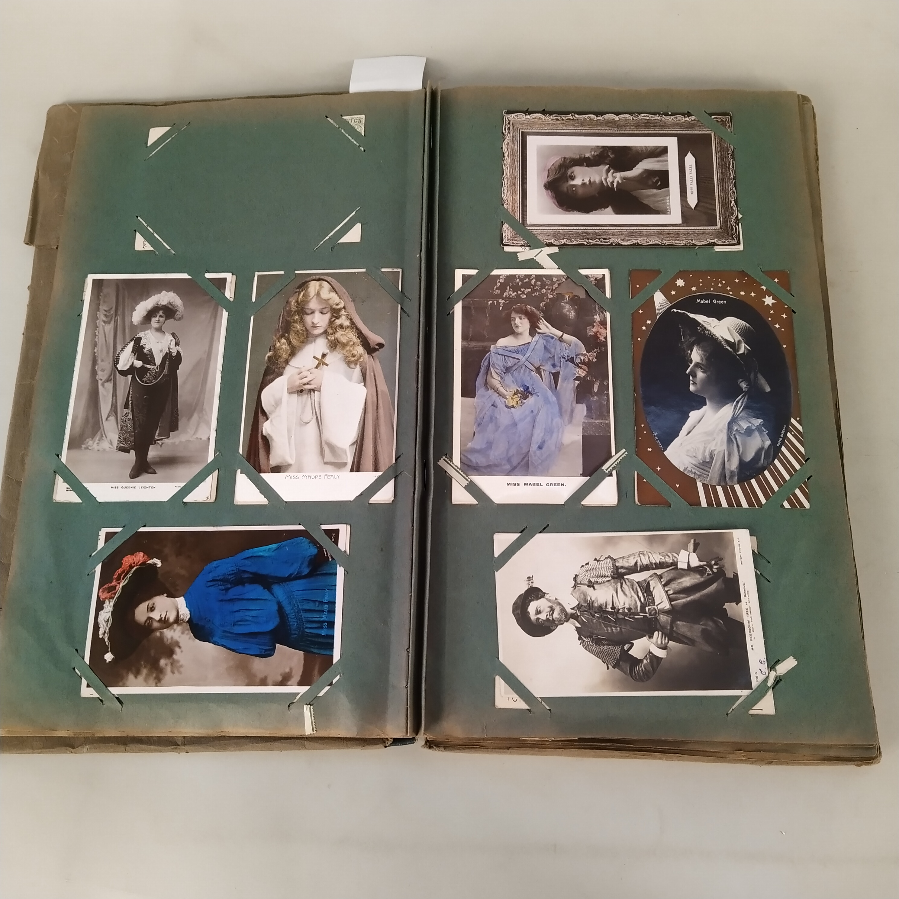 A vintage postcard album with many Edwardian era actresses, - Image 2 of 3