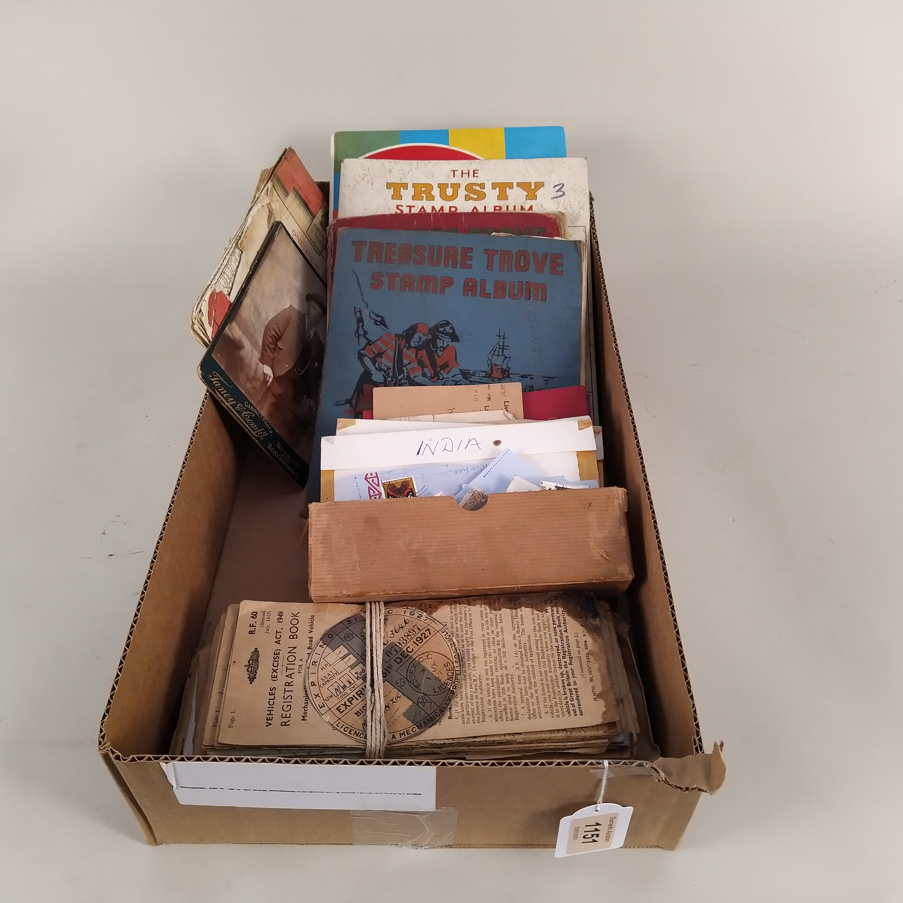 Various vintage stamp albums, part filled British and world stamps, - Image 3 of 3