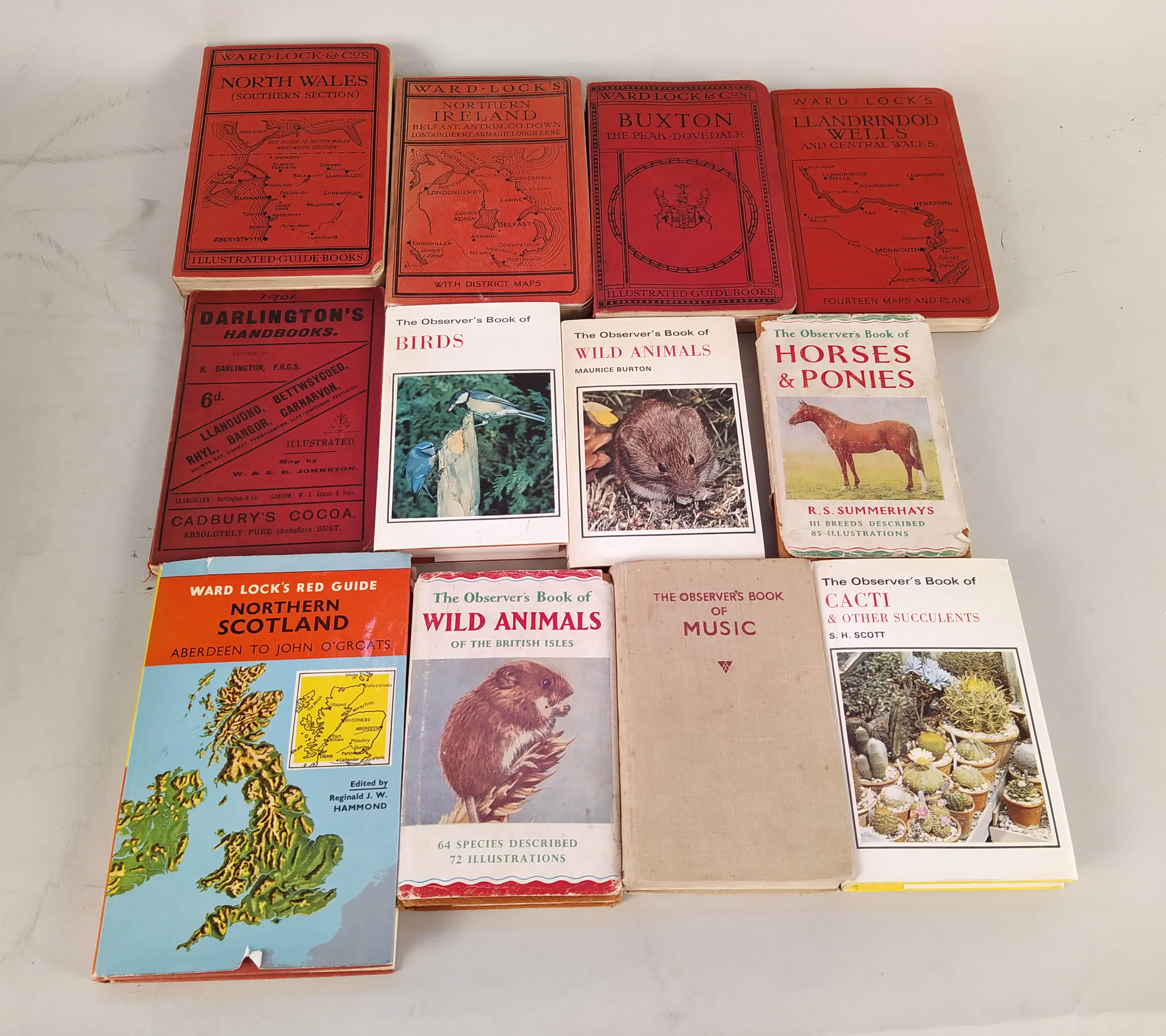 Six 'Observers' books, four Ward Lock travel,