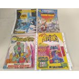 A selection of Enid Blyton books (all well used) plus a small group of vintage 1980's comics