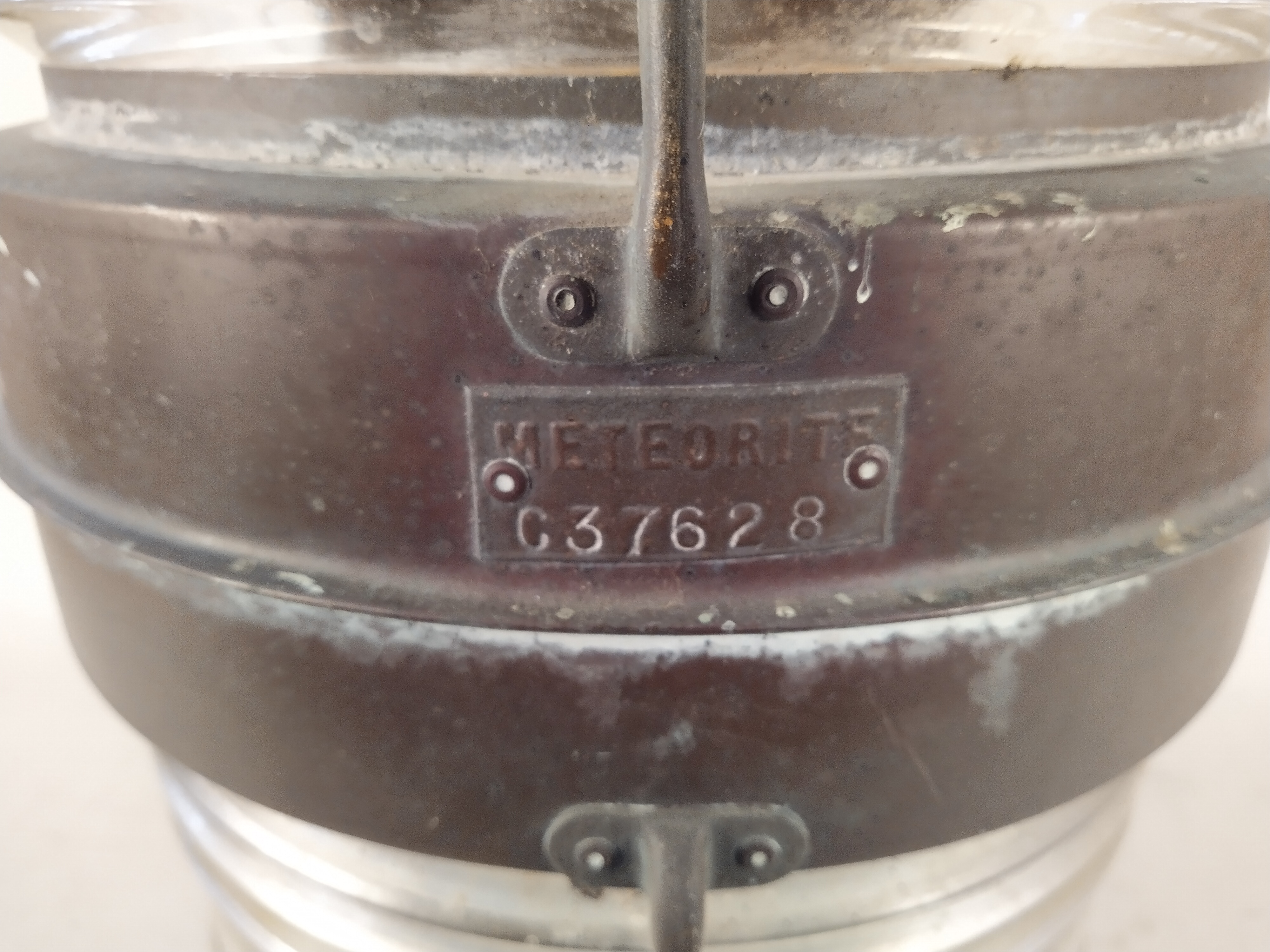 A double masthead copper ships lamp 'Meteorite C37628' - Image 2 of 4