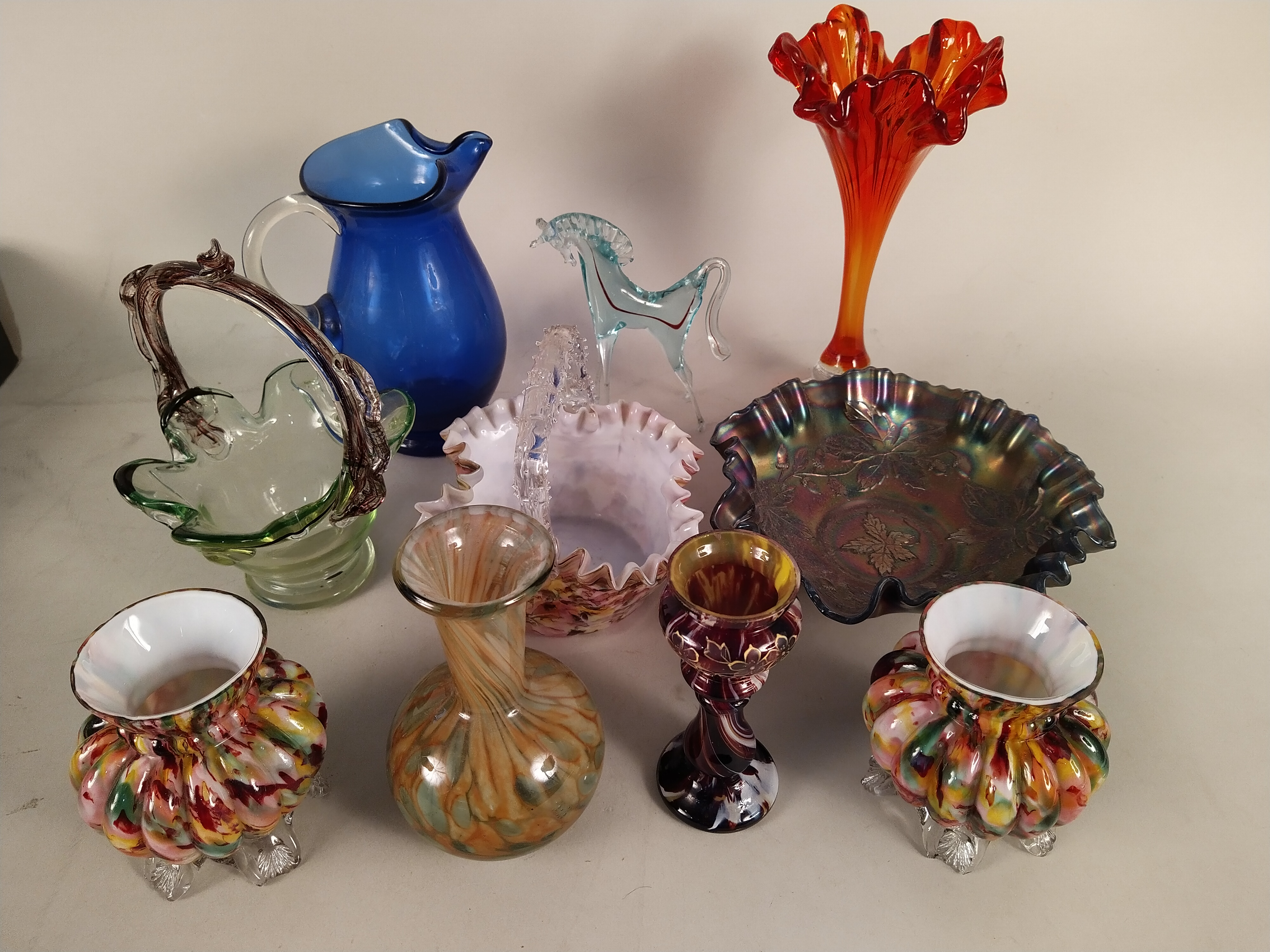 Mixed coloured glass including Carnival