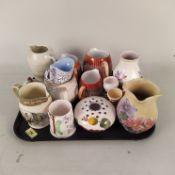 Various named ceramics including Poole, Susie Cooper, Radford,