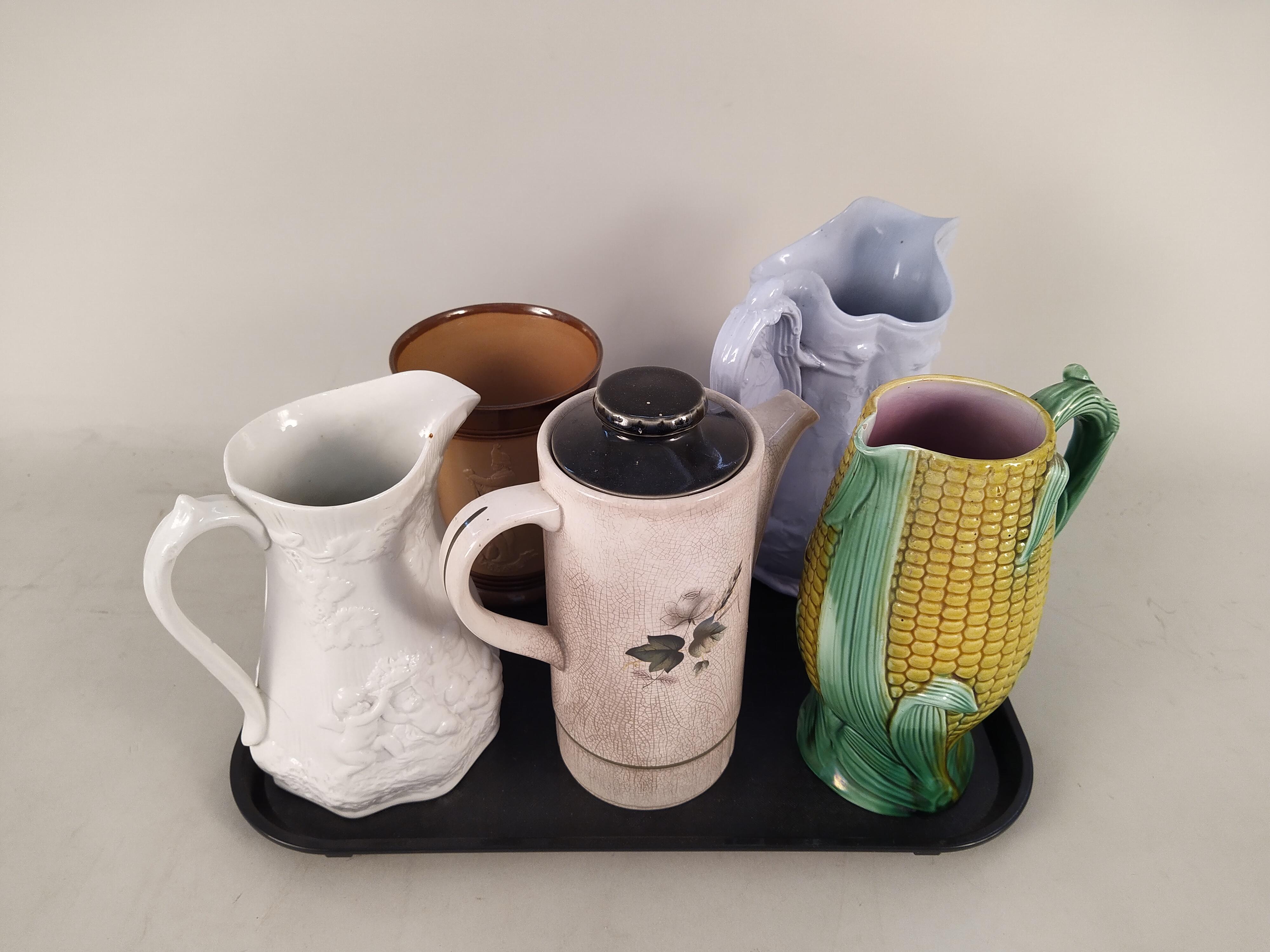 Three Victorian pottery jugs, - Image 2 of 3