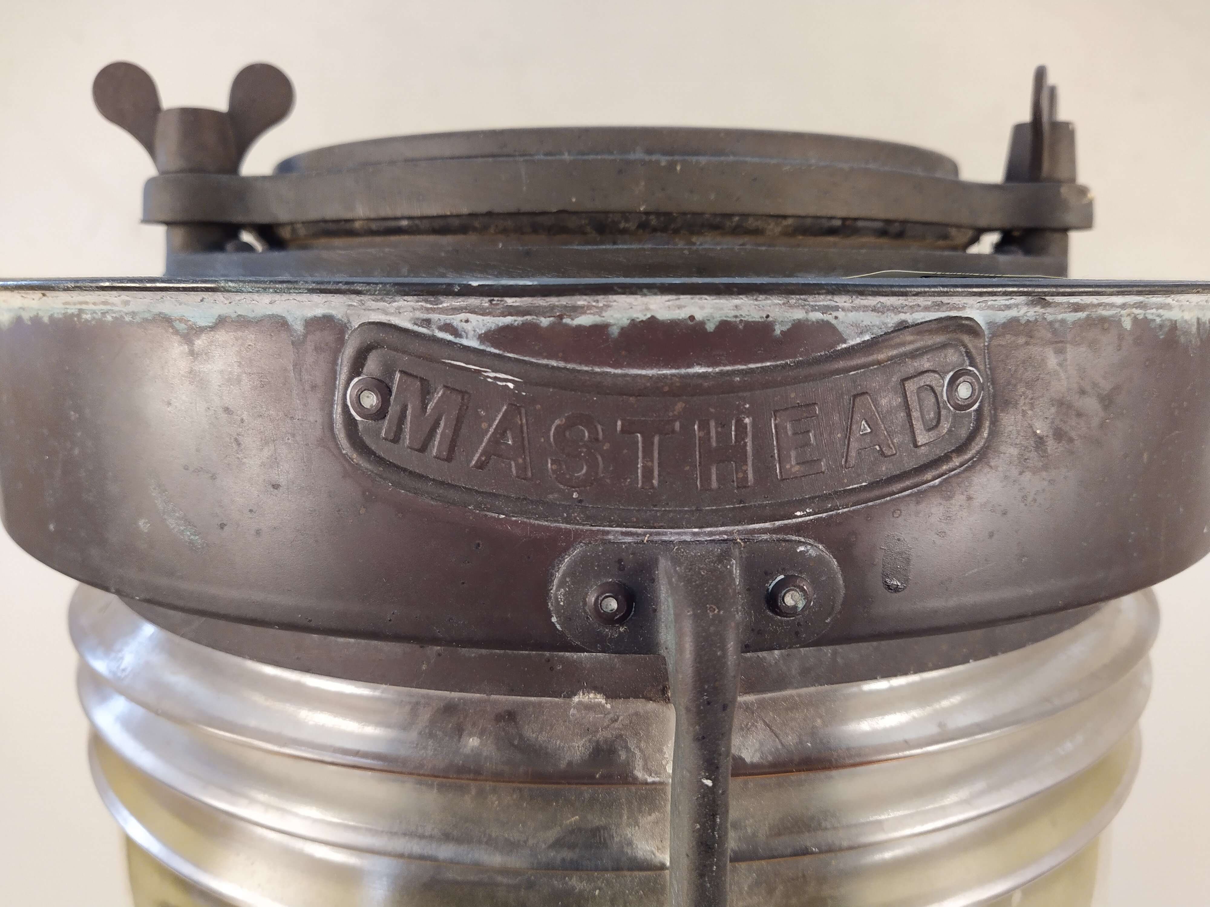 A double masthead copper ships lamp 'Meteorite C37628' - Image 3 of 4