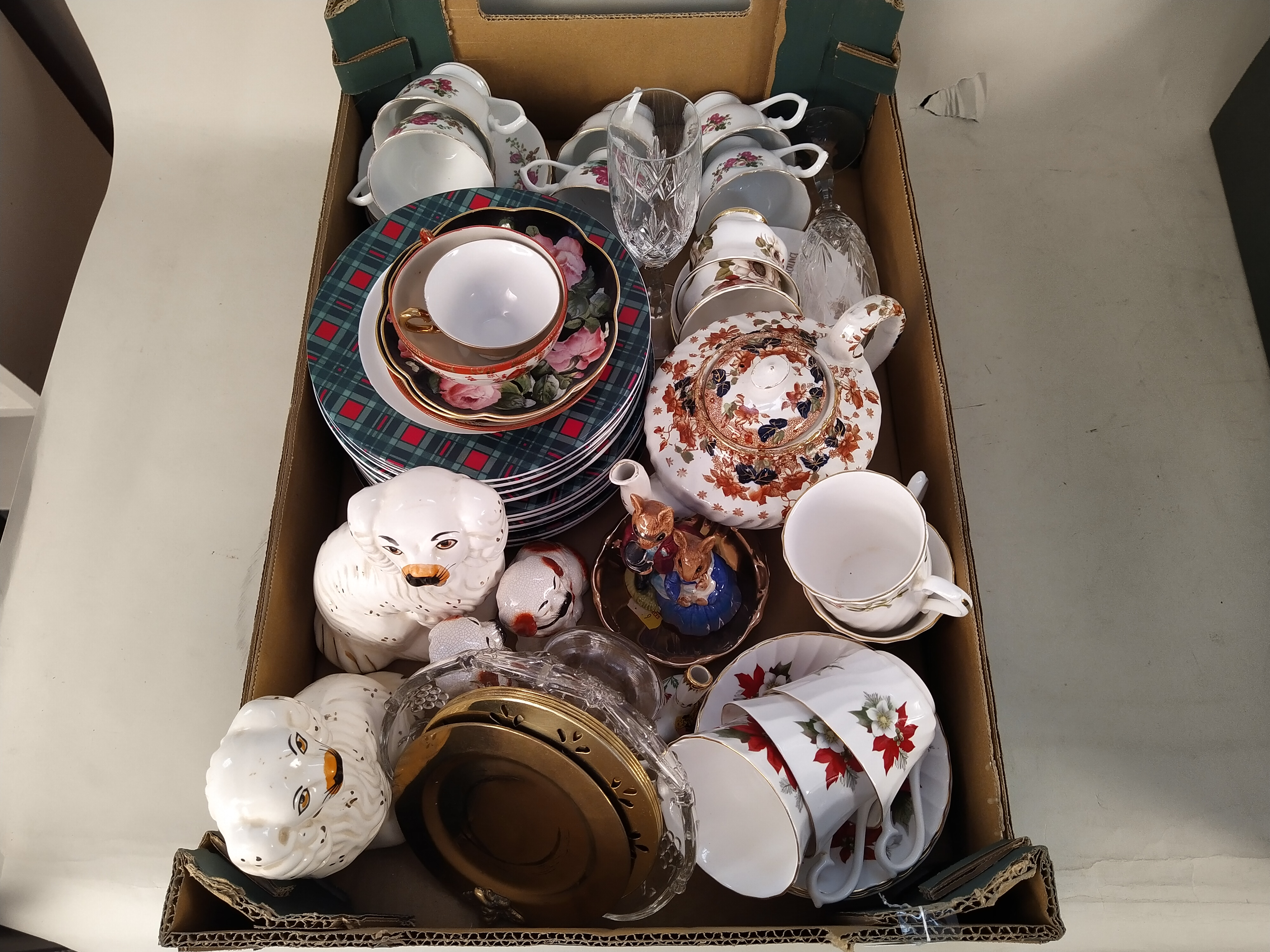 Mixed ceramics including a Japanese tea set and two pairs of Staffordshire style dogs - Image 3 of 3