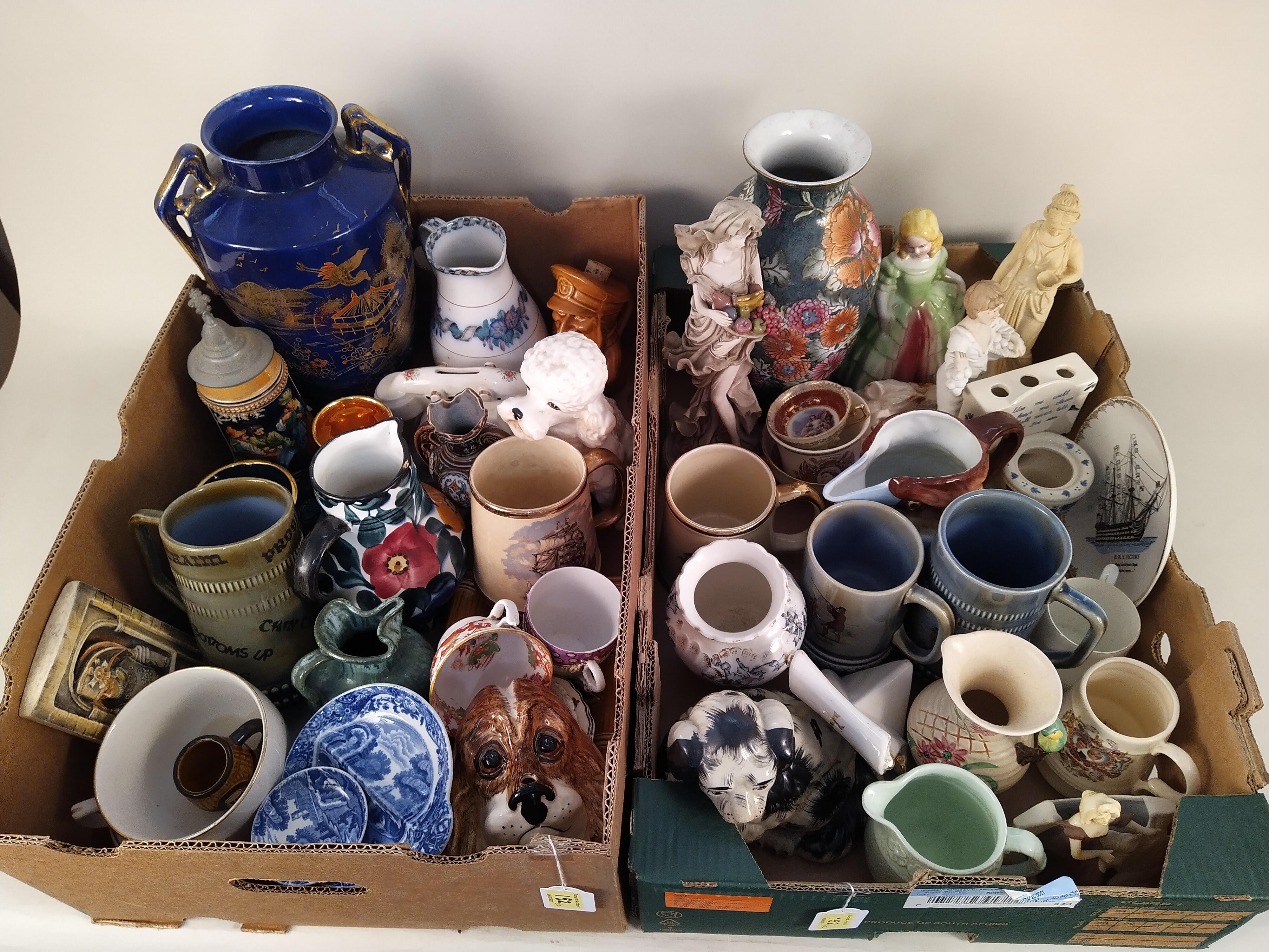Mixed ceramics including figurines, vases, - Image 3 of 3