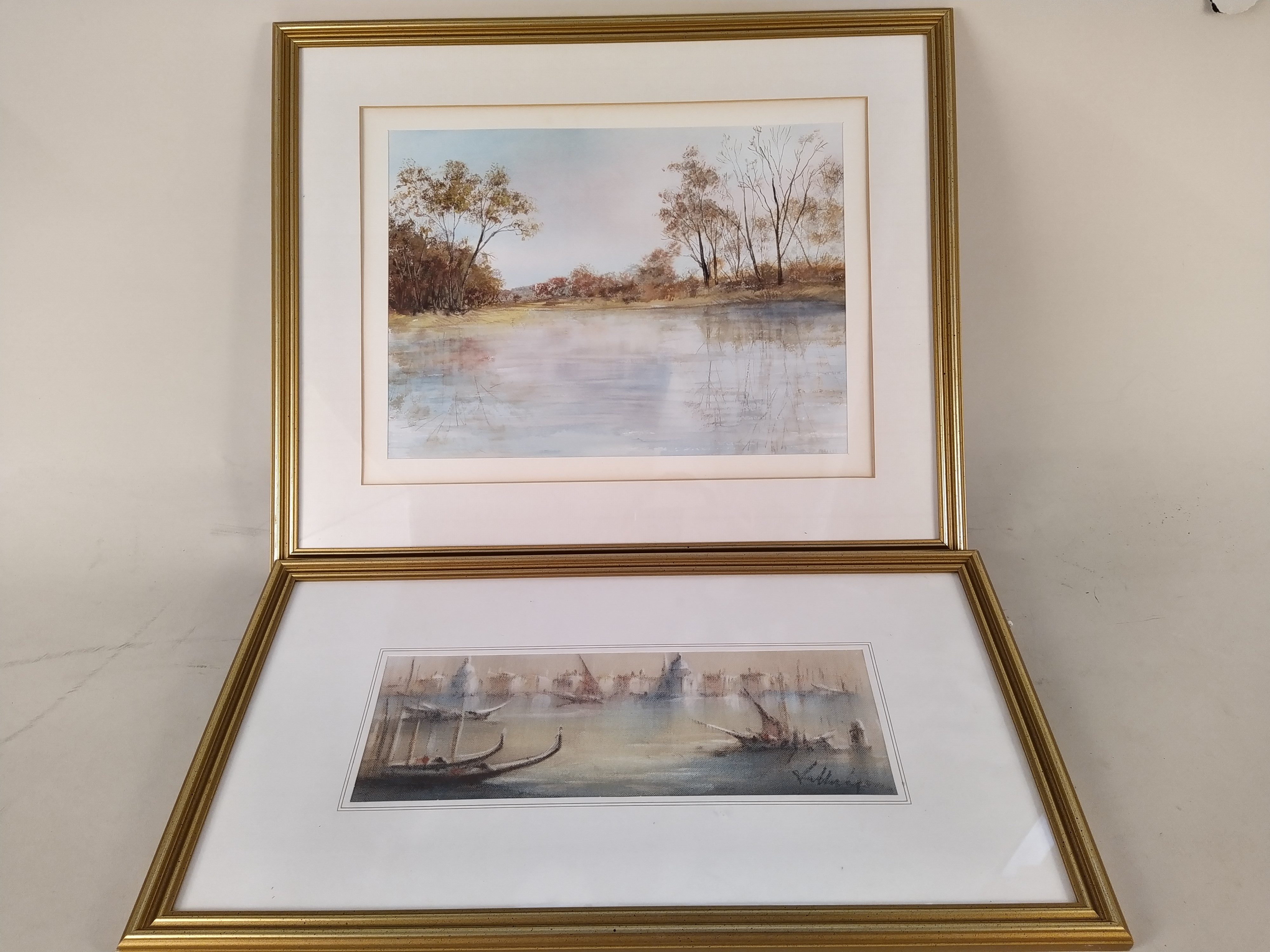 A selection of framed watercolours including a pair of forest scenes signed C Mutsears, - Image 2 of 3