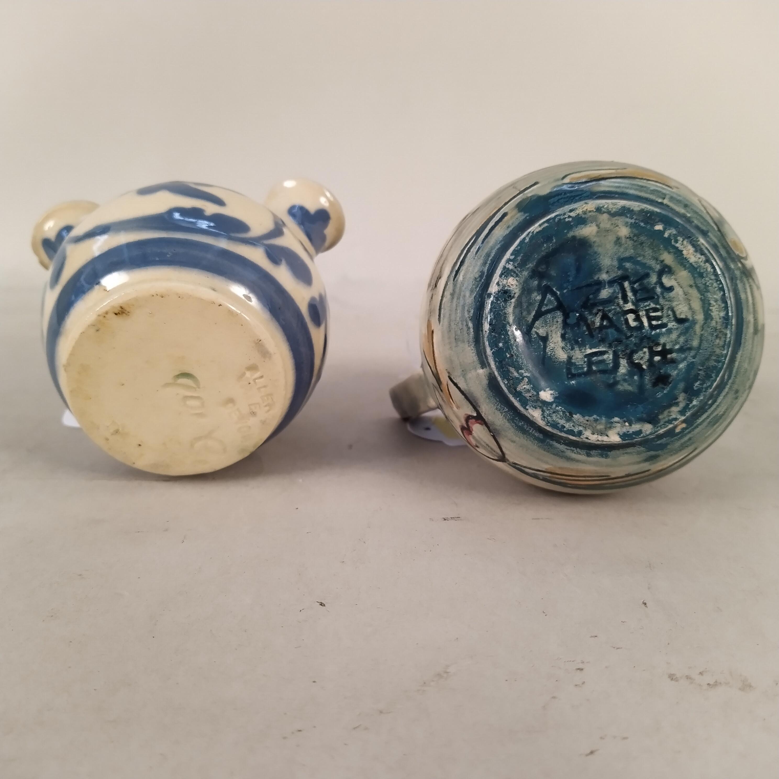 A Mabel Leigh Aztec pattern jug plus an Aller Vale bulb vase - Image 3 of 3