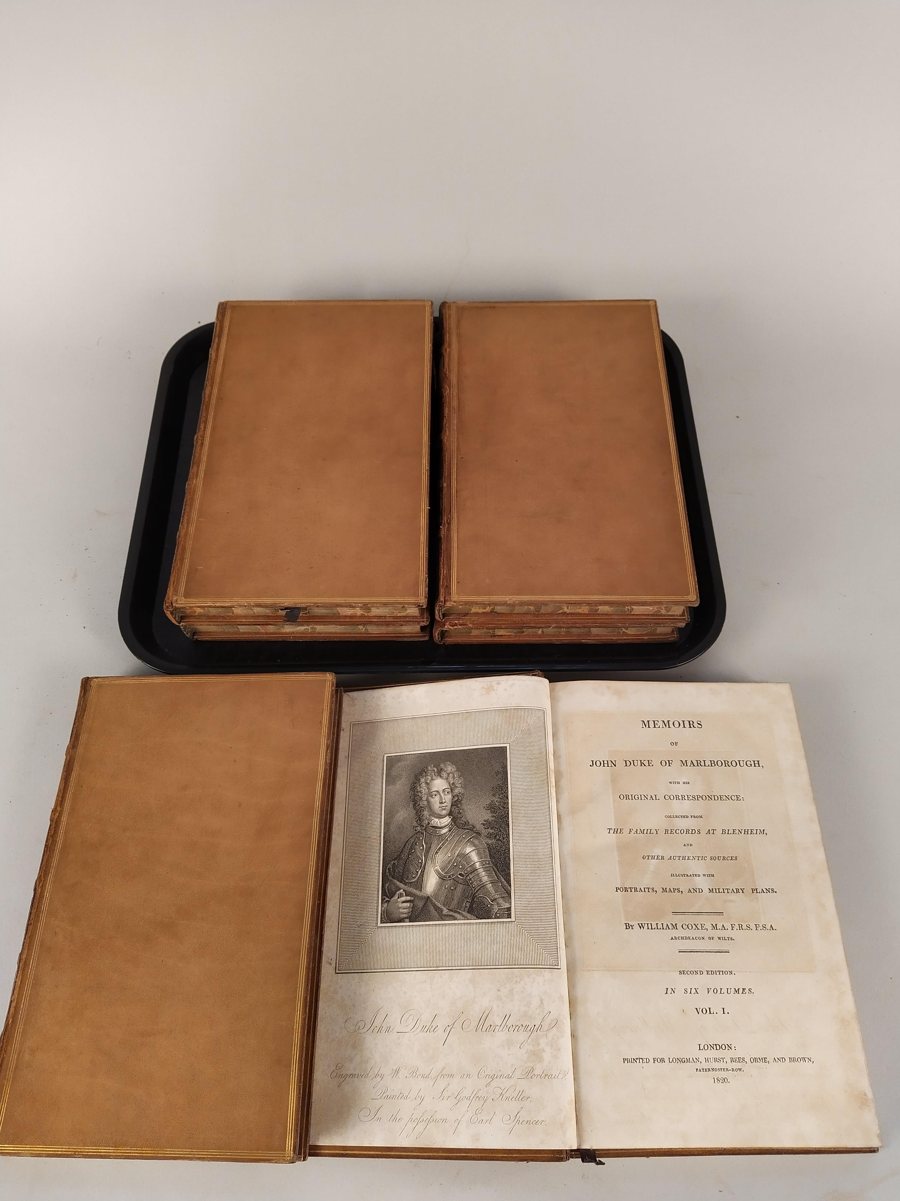 Memoirs of John, Duke of Marlborough by William Oxe, six volumes, Longman, Hurst, Rees,