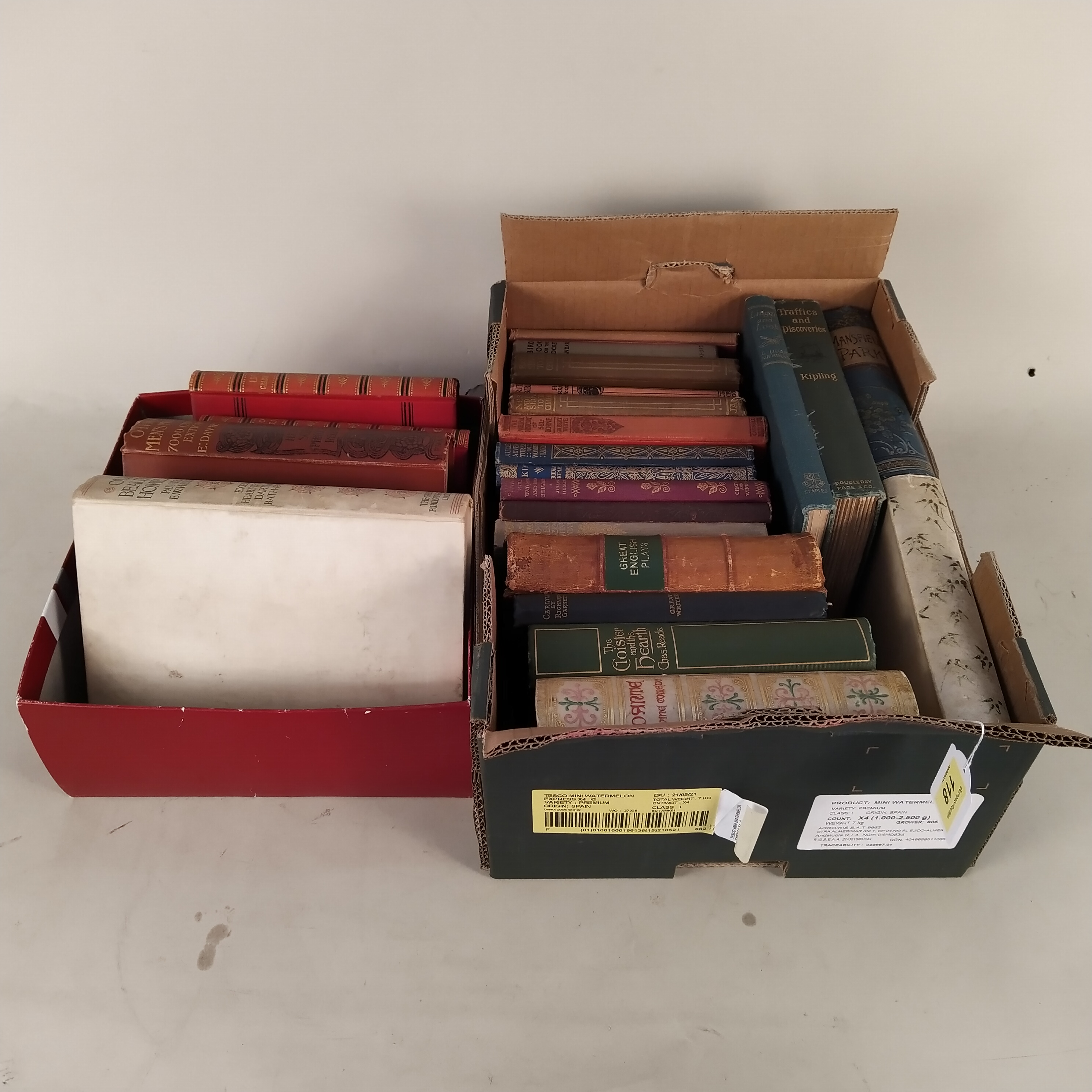 A selection of late Victorian/early 20th Century books including titles on birds,