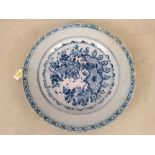 A late 18th/early 19th Century (possibly English) Delft plate,