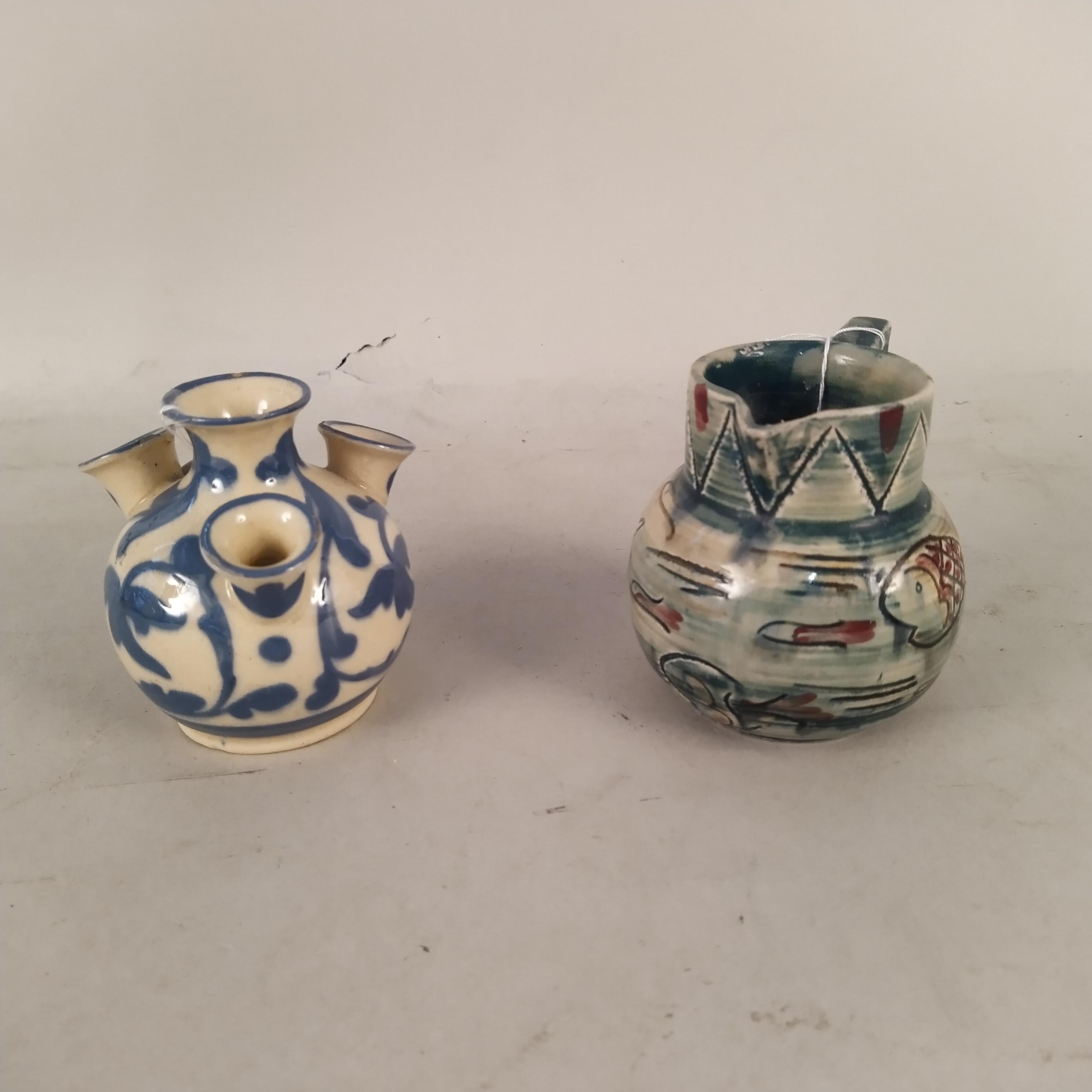 A Mabel Leigh Aztec pattern jug plus an Aller Vale bulb vase - Image 2 of 3